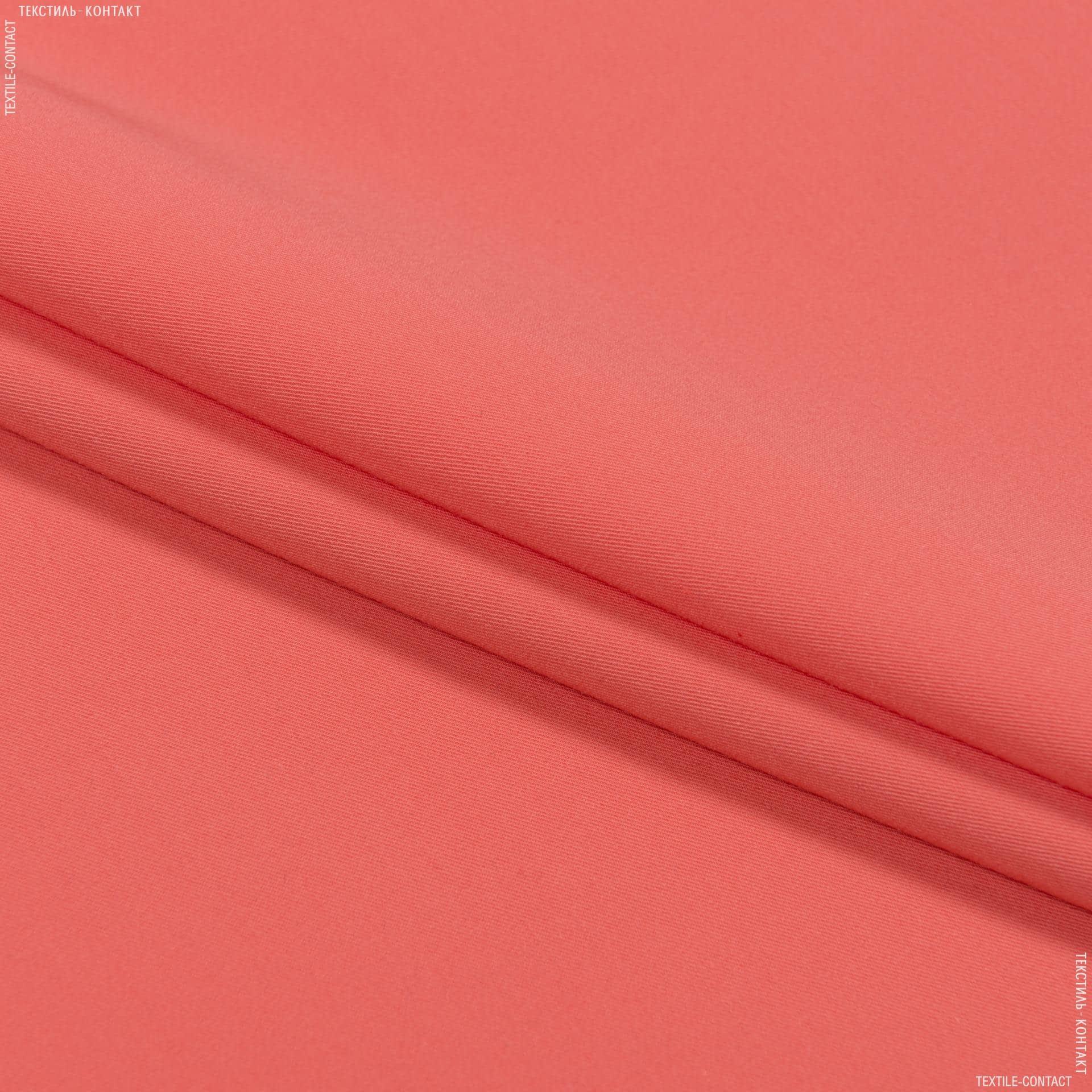 Ткани для брюк - Костюмная тесла-1 коралловый