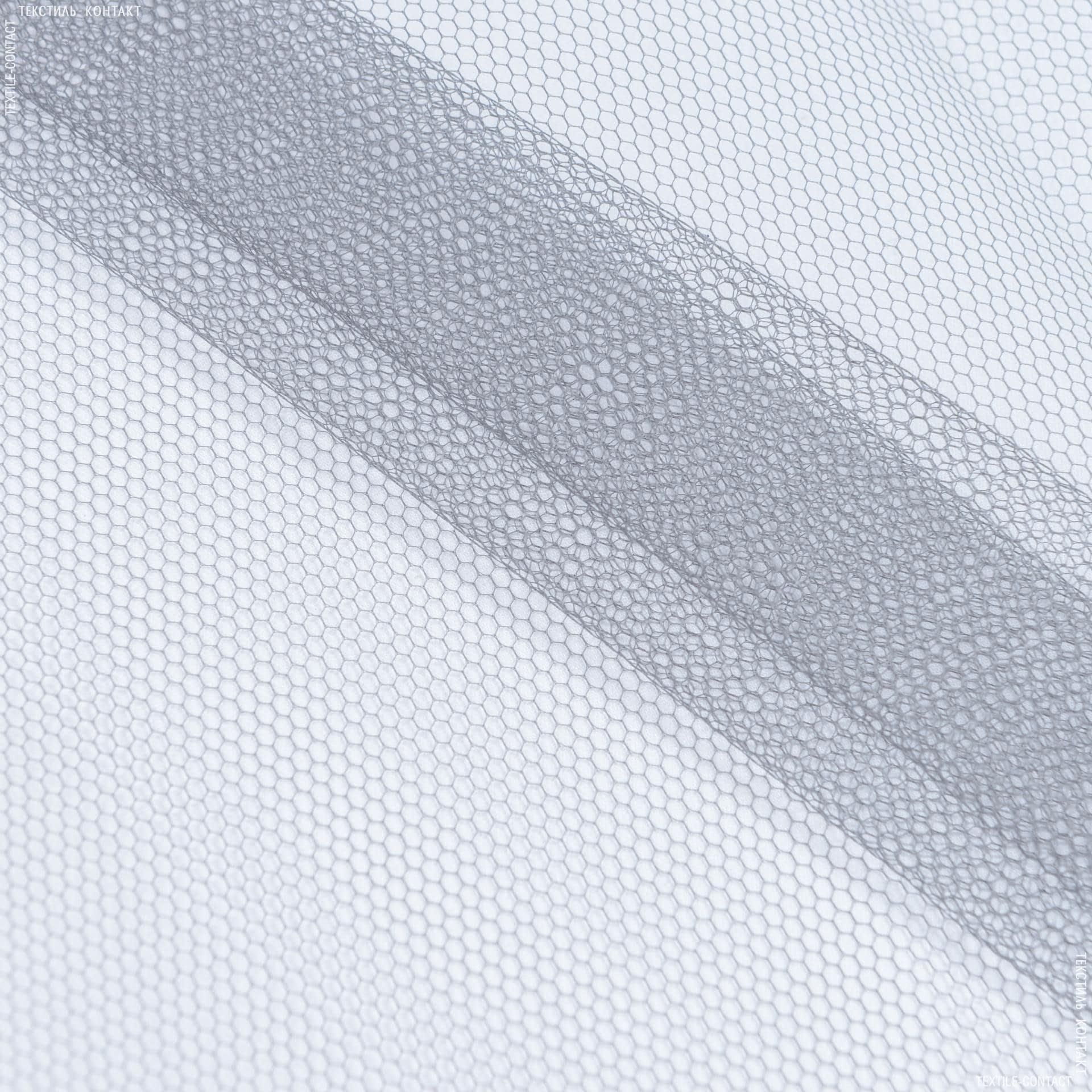 Тканини для суконь - Фатин жорсткий темно-сірий