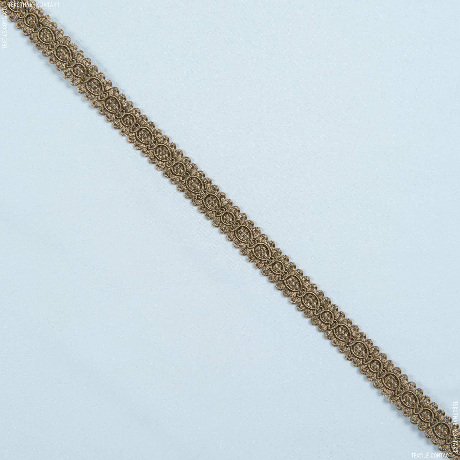 Ткани фурнитура для дома - Тесьма окант. Солар, кофе с молоком 1.3см
