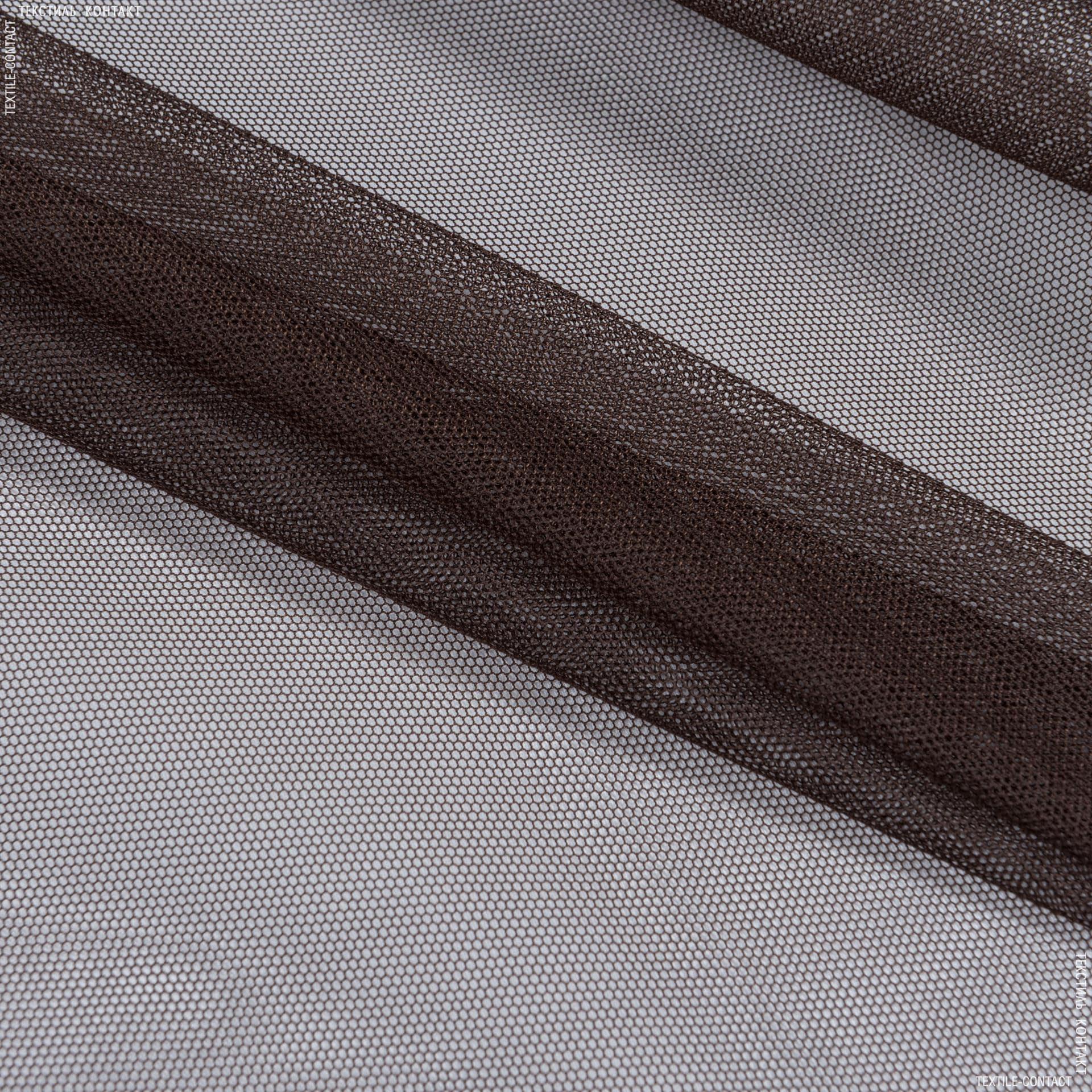 Тканини гардинні тканини - Тюль з обважнювачем сітка грек/grek шоколад