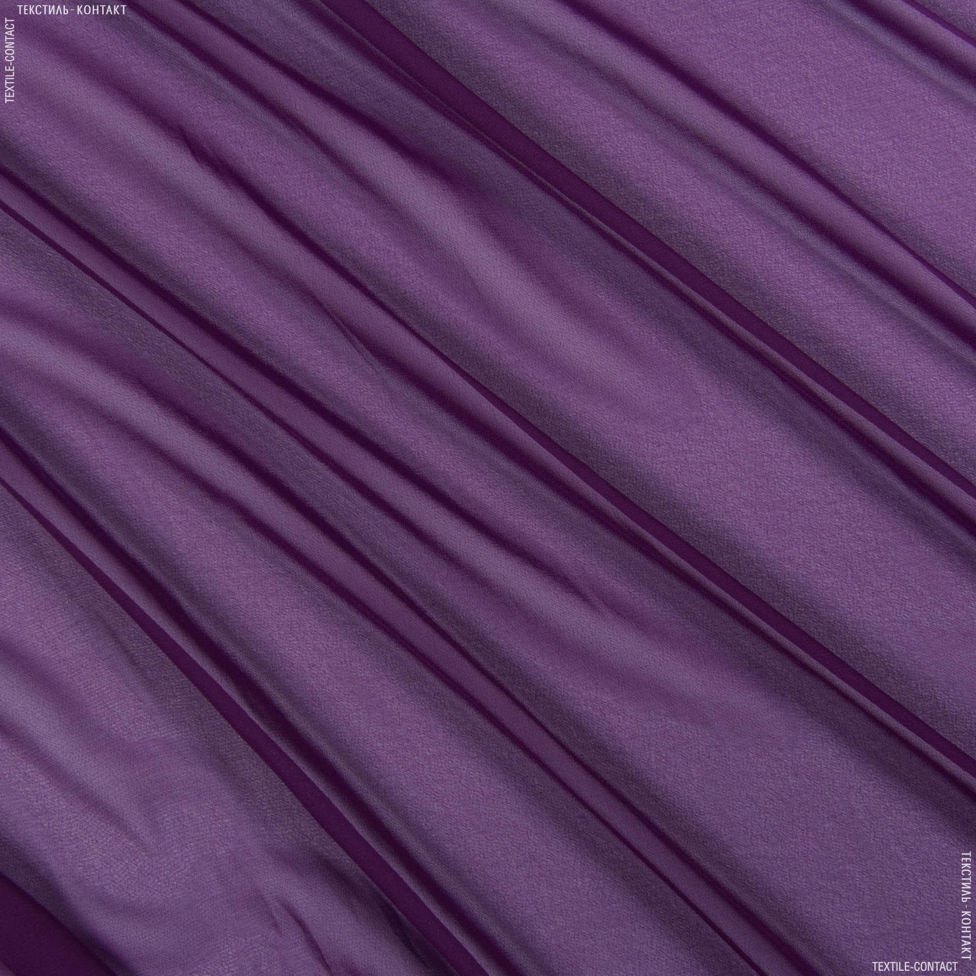 Ткани для платков и бандан - Шифон мульти фиолетовый