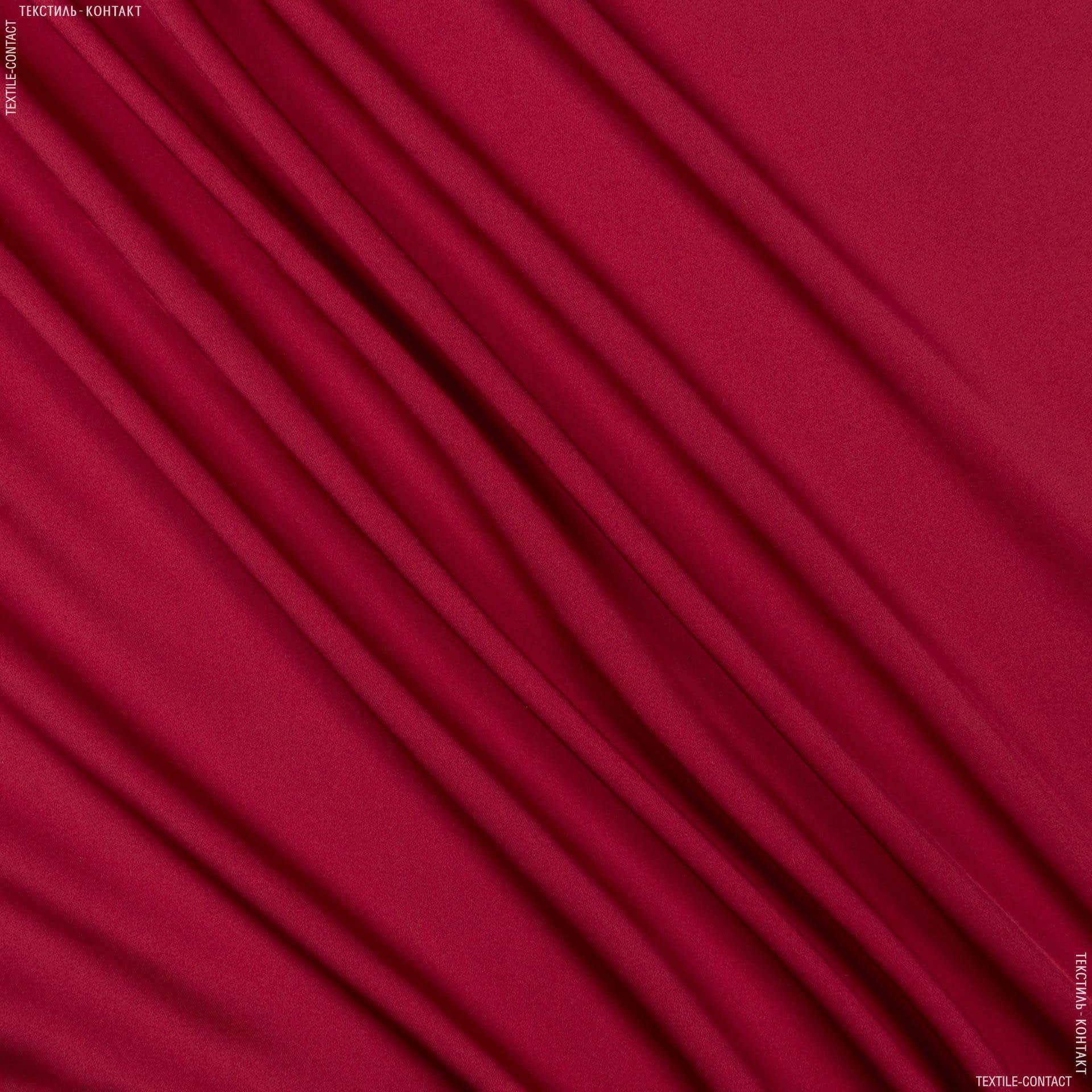 Ткани для платков и бандан - Шелк искусственный темно-красный
