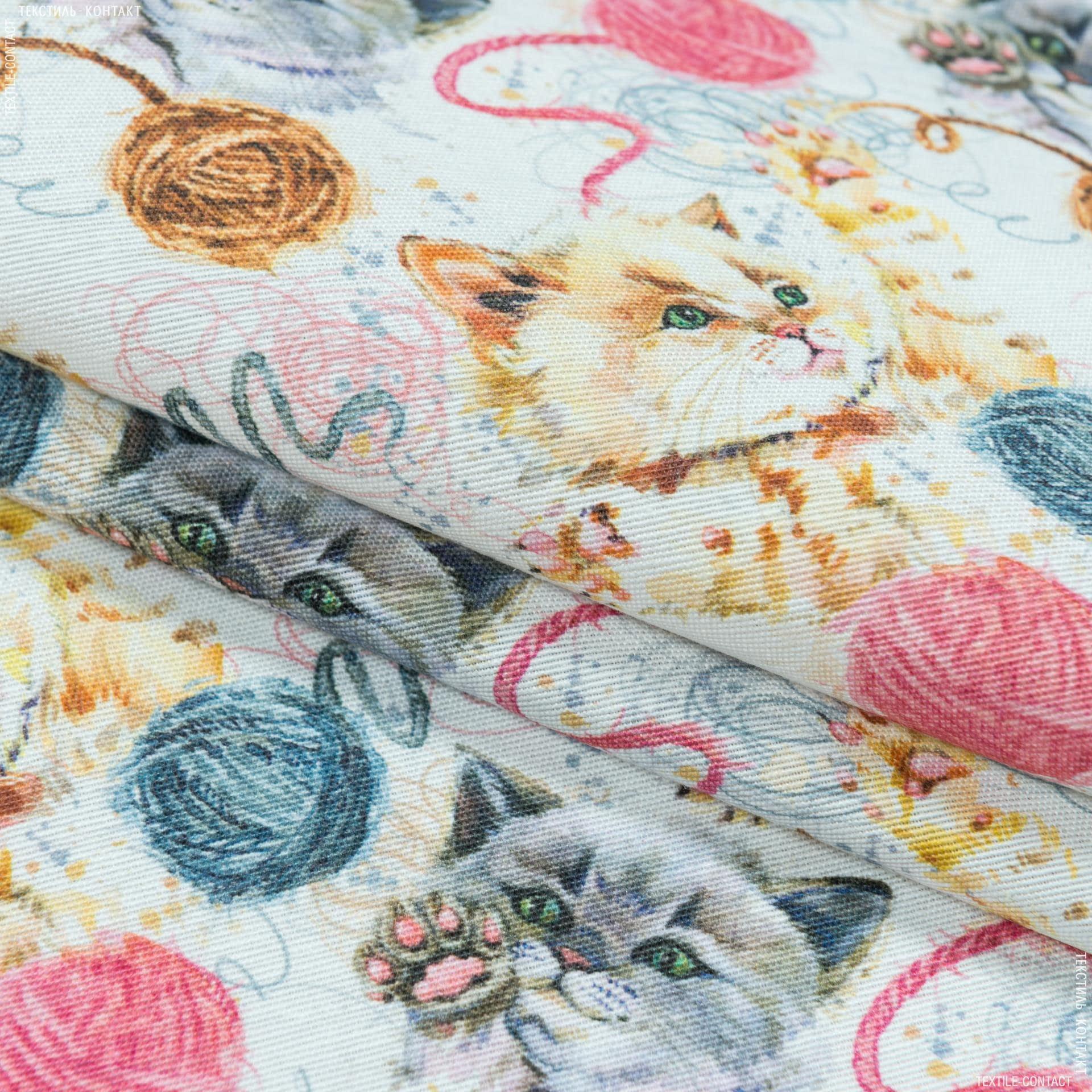 Ткани портьерные ткани - Декоративная ткань   коты-клубочки