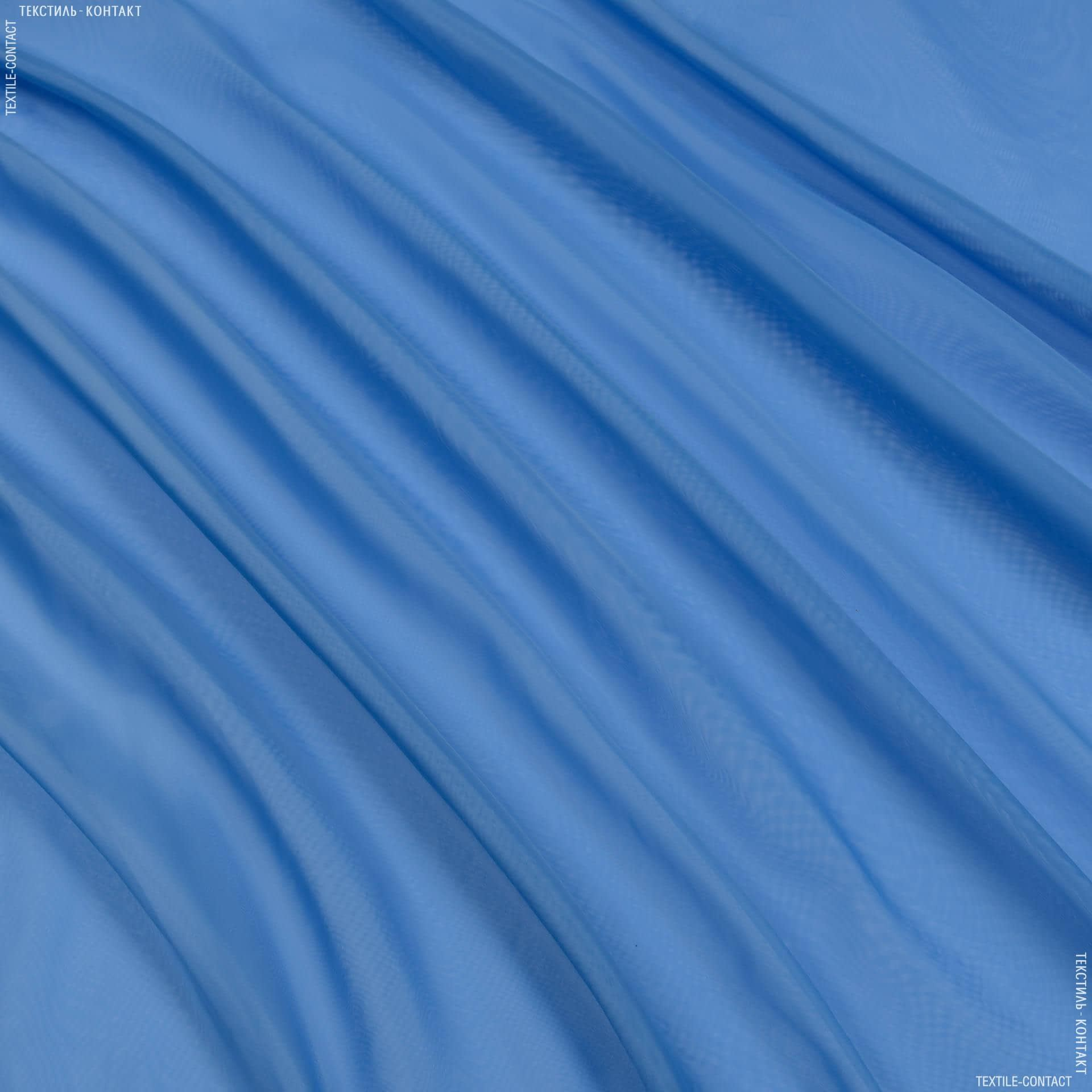 Ткани гардинные ткани - Тюль   вуаль    небесно голубой
