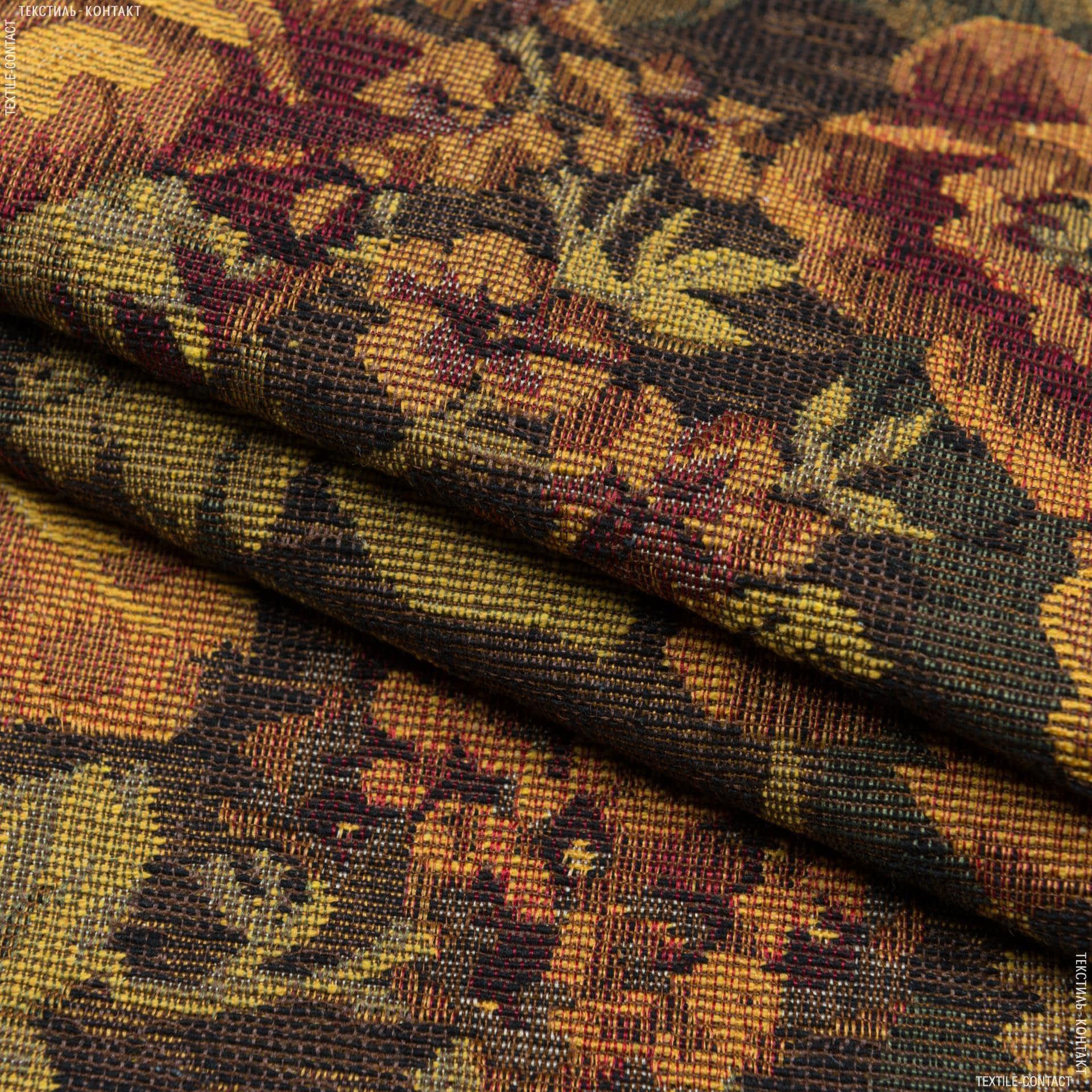 Тканини для декоративних подушок - Гобелен троянди пилігрим /жовтий