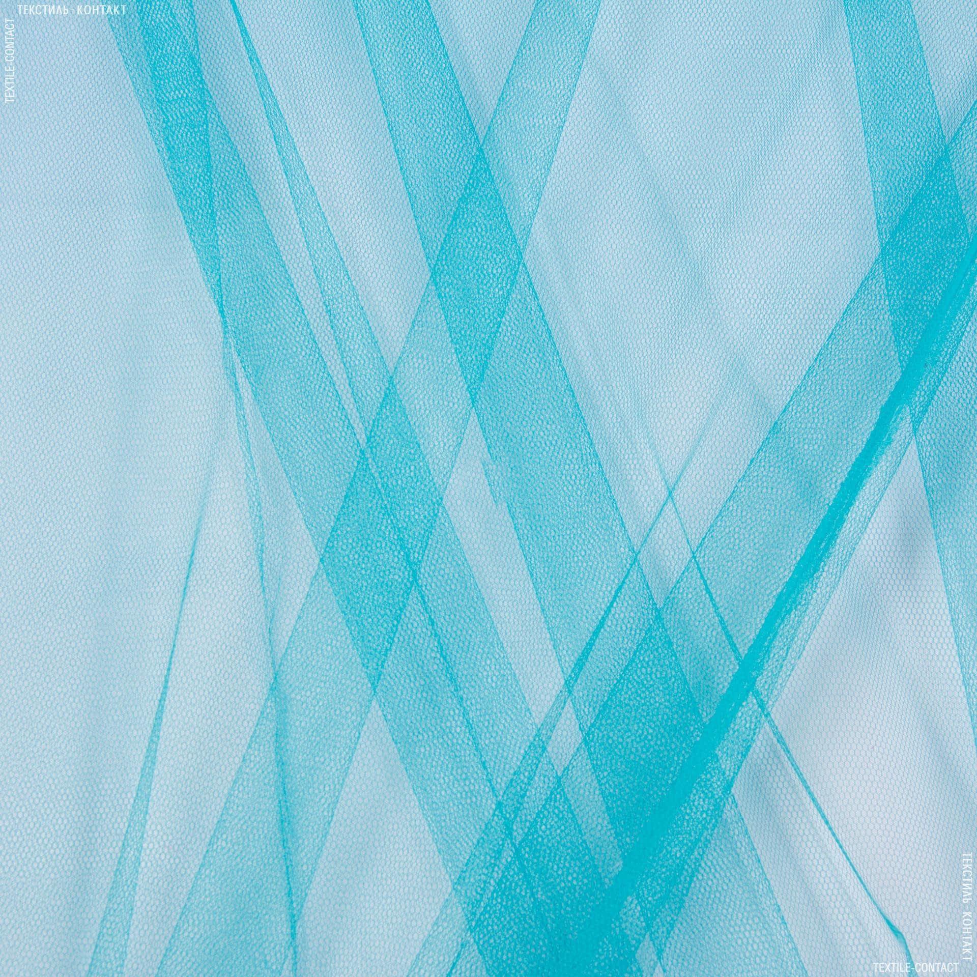 Ткани для блузок - Фатин жесткий светло-бирюзовый