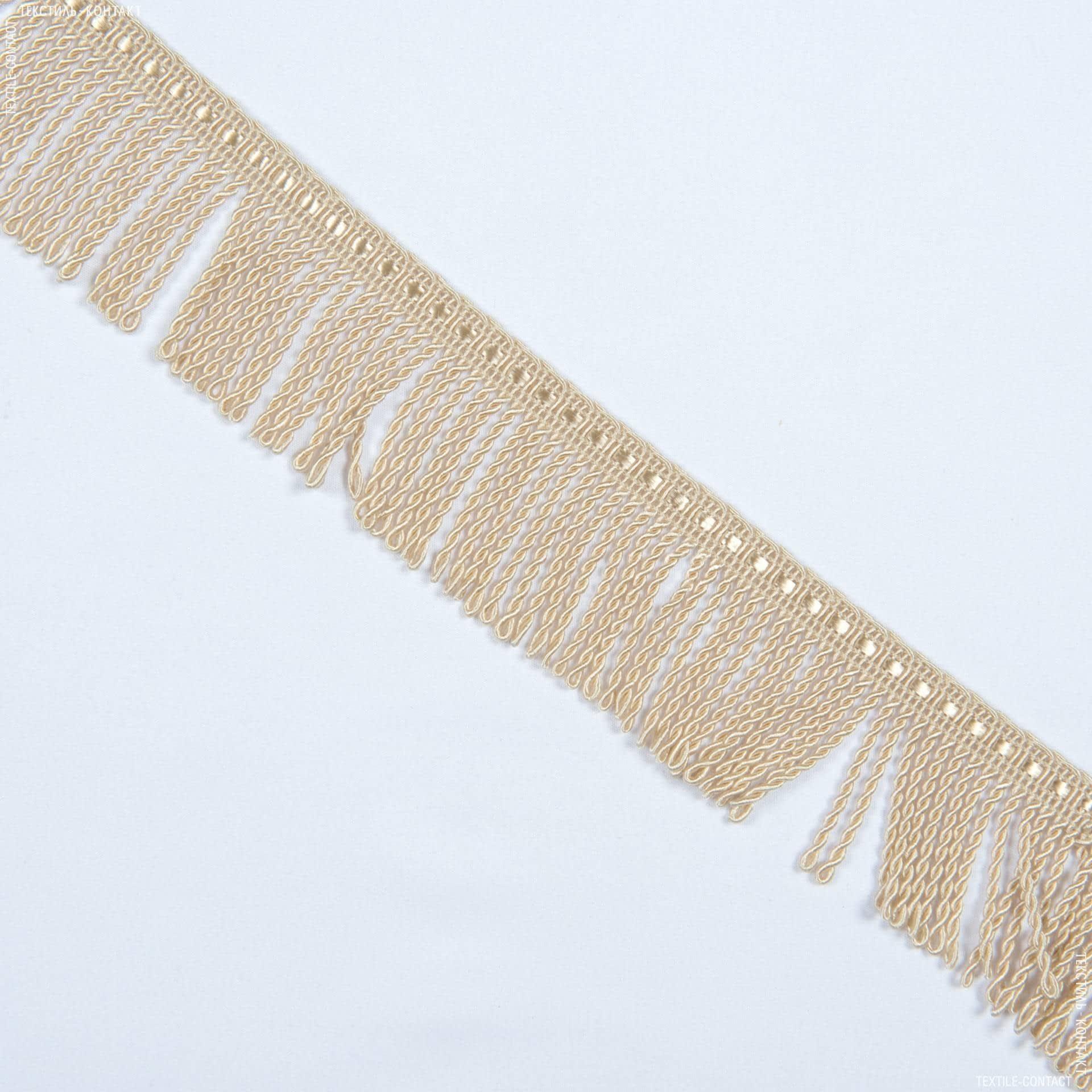 Ткани фурнитура для декора - Бахрома солар спираль беж