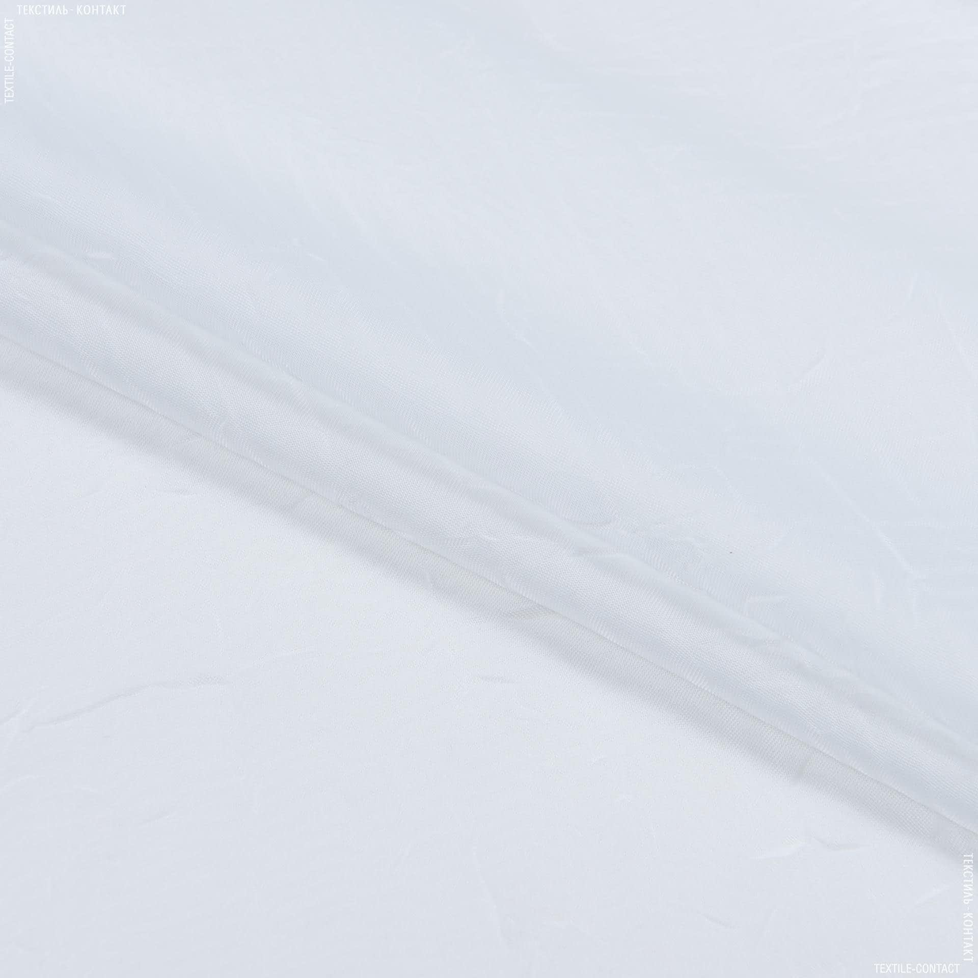 Тканини для драпірування стін і стель - Тюль   вуаль креш з обважнювачем біло-молочний 275 +10 СМ