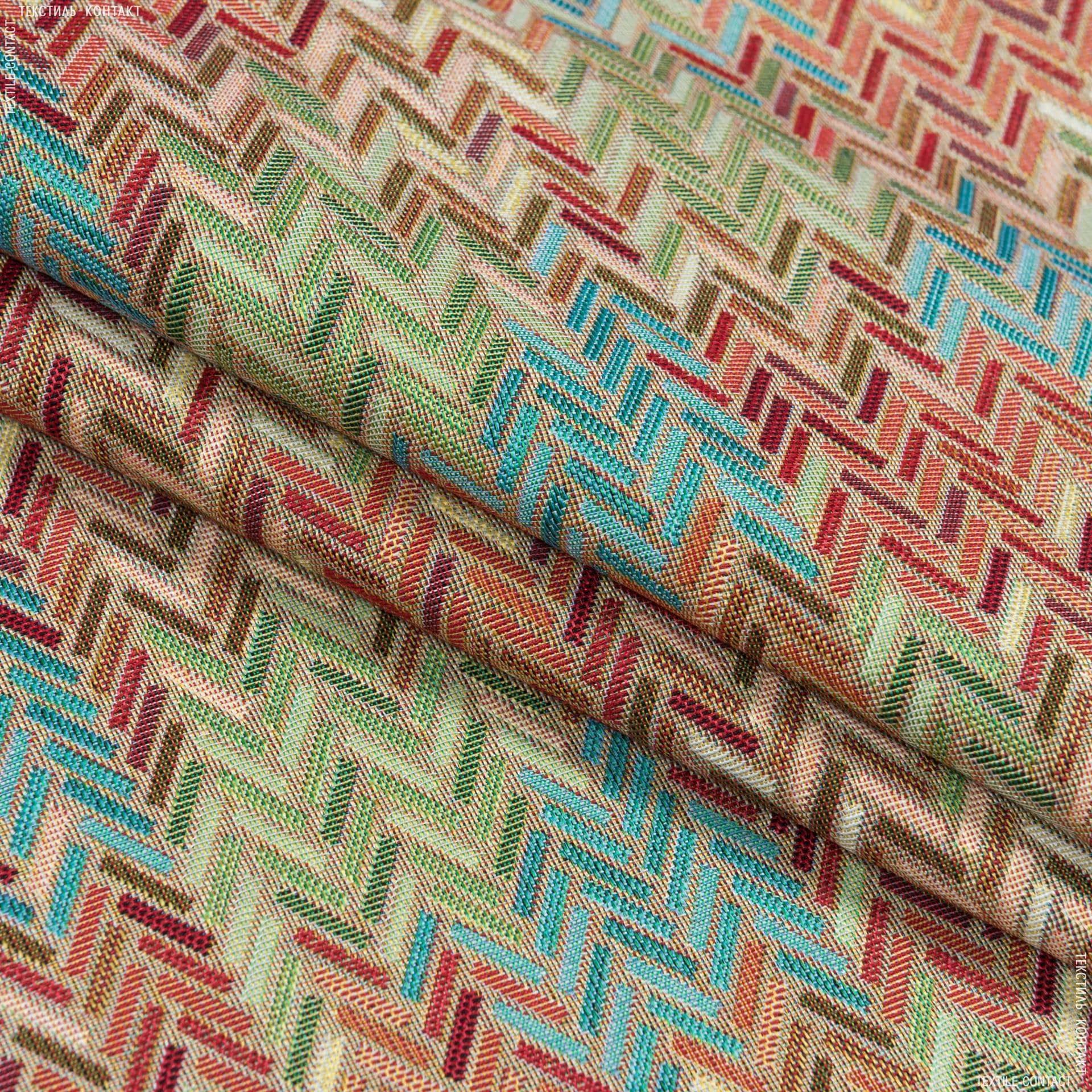 Тканини для декоративних подушок - Декор-гобелен орнамент толосол/tollosol мультиколор