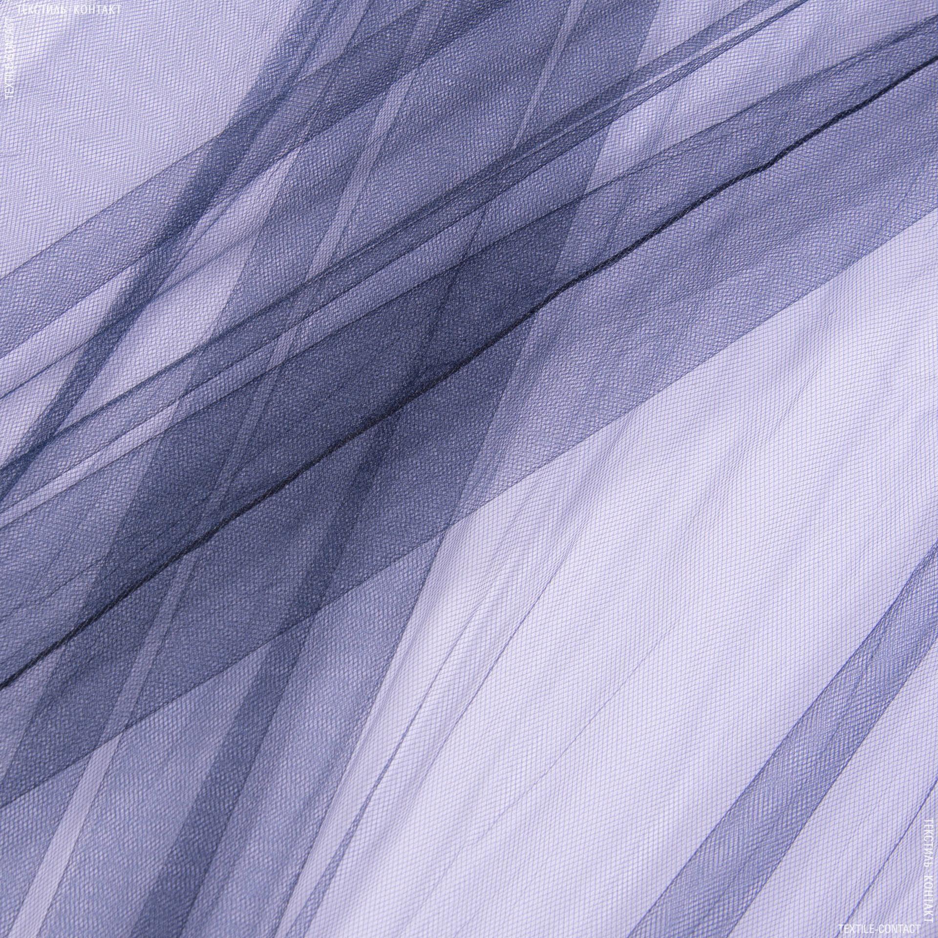 Ткани для платьев - Фатин блестящий вороново крыло