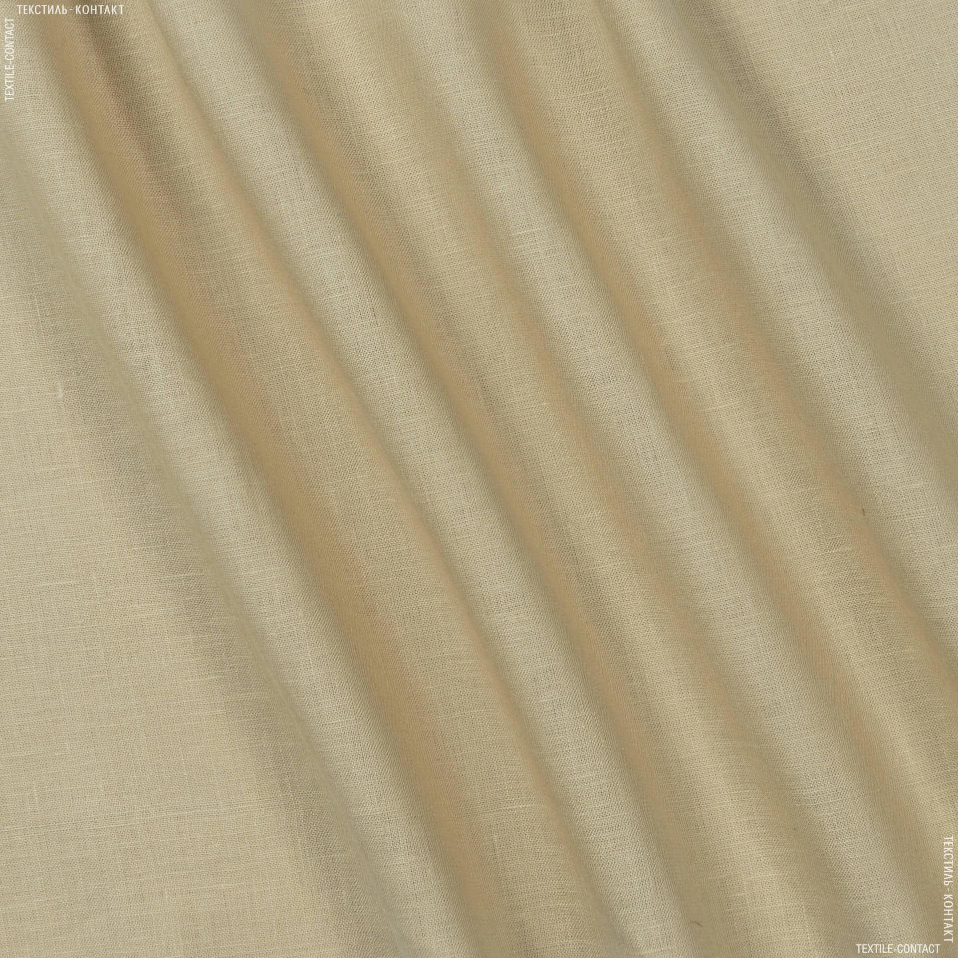 Ткани для платьев - Лен серо-бежевый