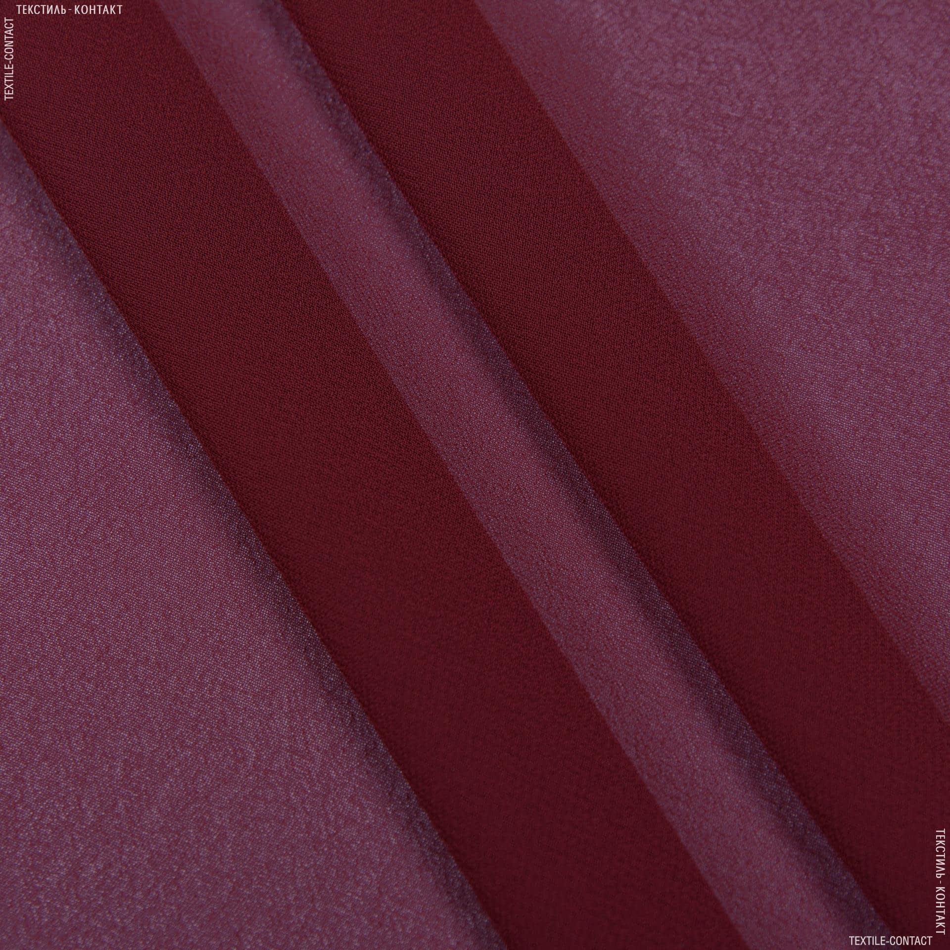 Ткани для платков и бандан - Шифон мульти бордовый