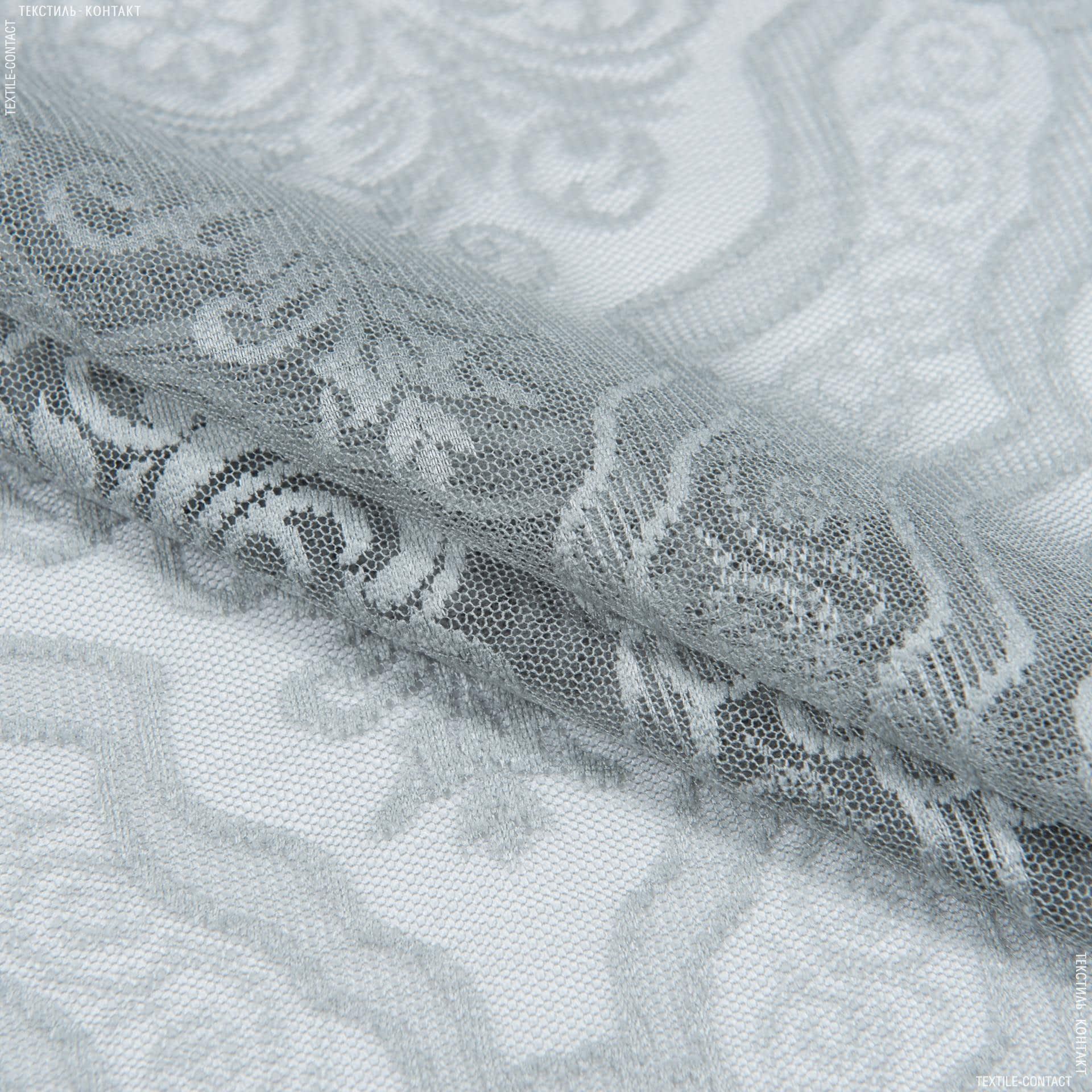 Тканини гардинні тканини - Гардинне полотно гіпюр анаіт св.сірий