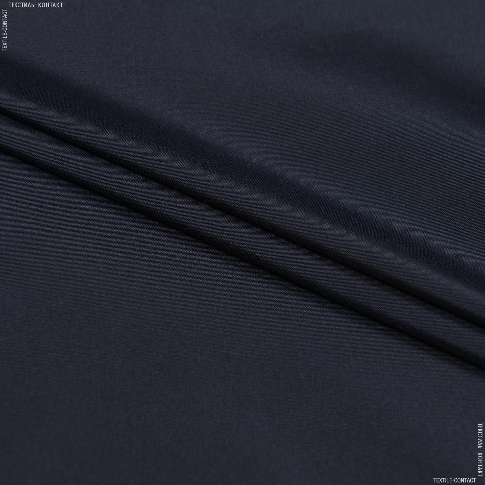 Тканини для верхнього одягу - Вікторія плащова темно-синій