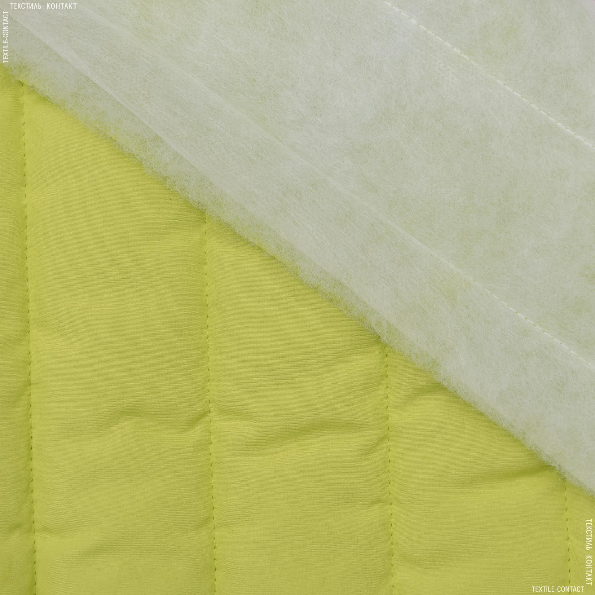Ткани для верхней одежды - Плащевая фортуна стеганая фисташковый