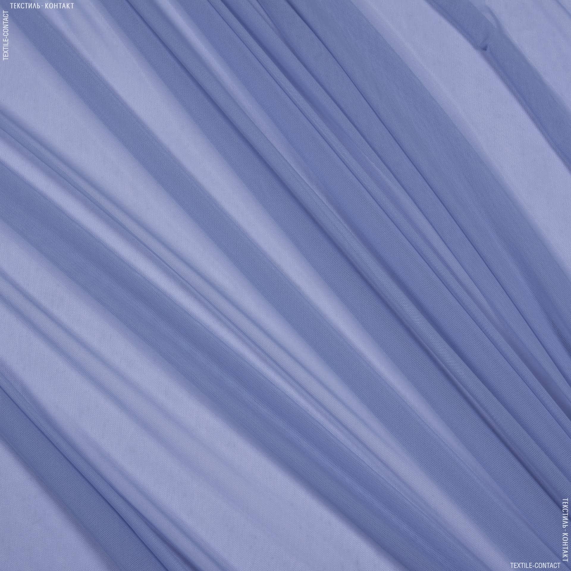 Ткани для платьев - Сетка голубой