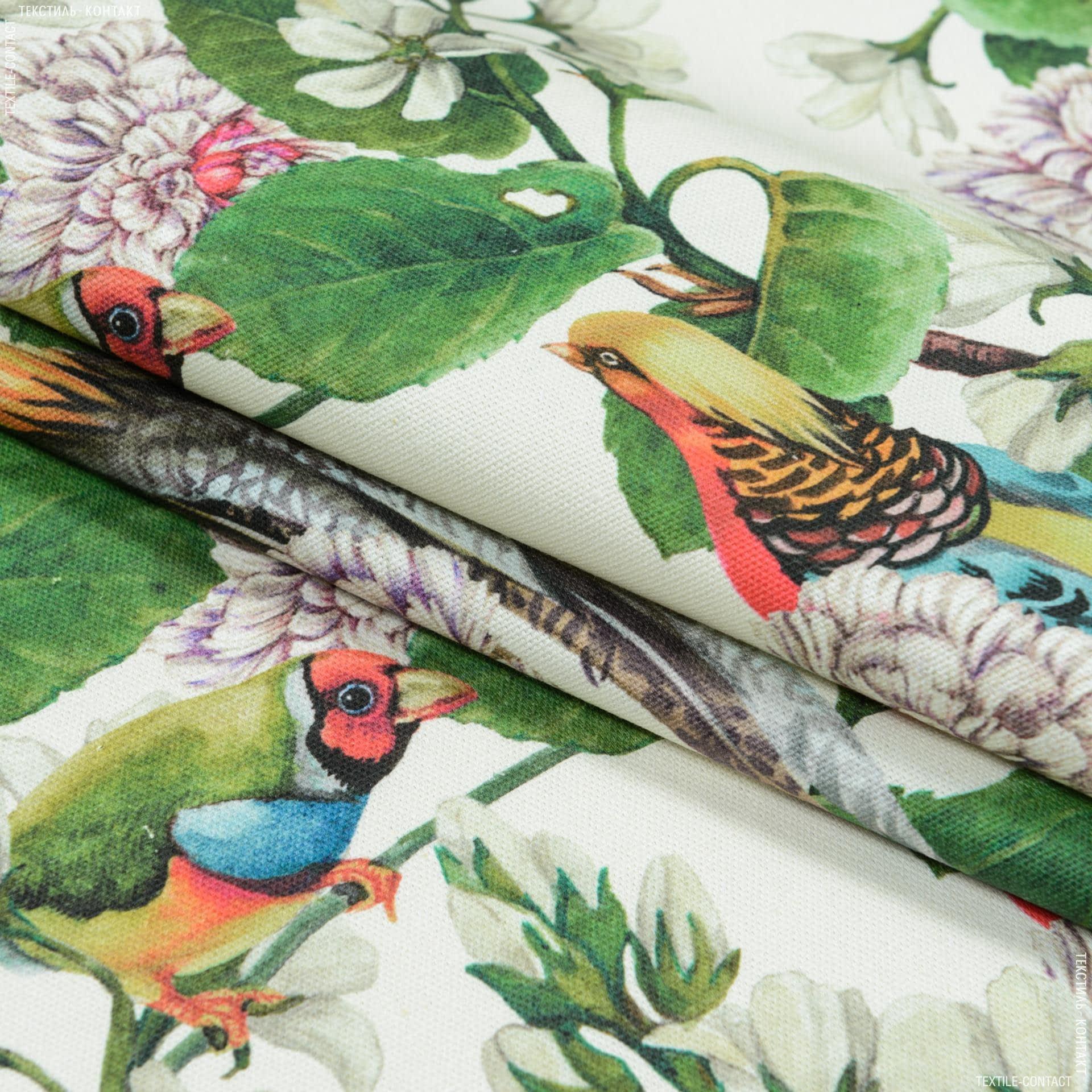 Ткани портьерные ткани - Декоративная ткань  сад эдема фон молочный