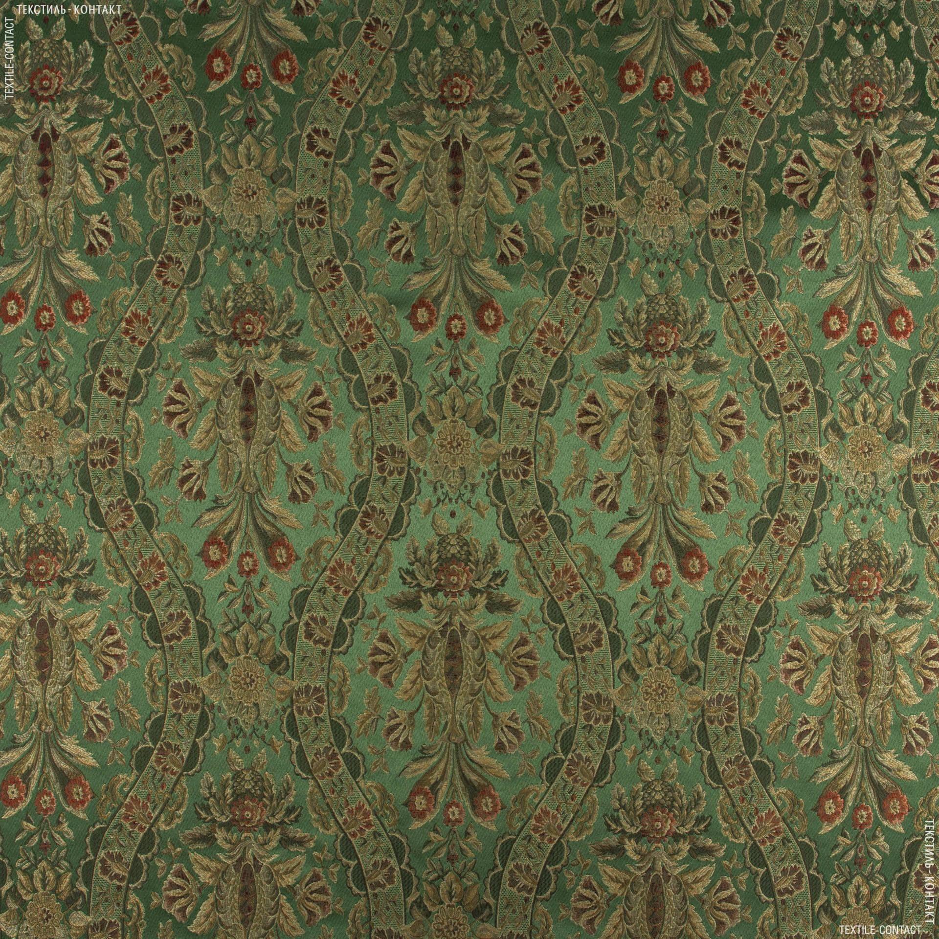 Ткани для портьер - Декор Мадрид оливка