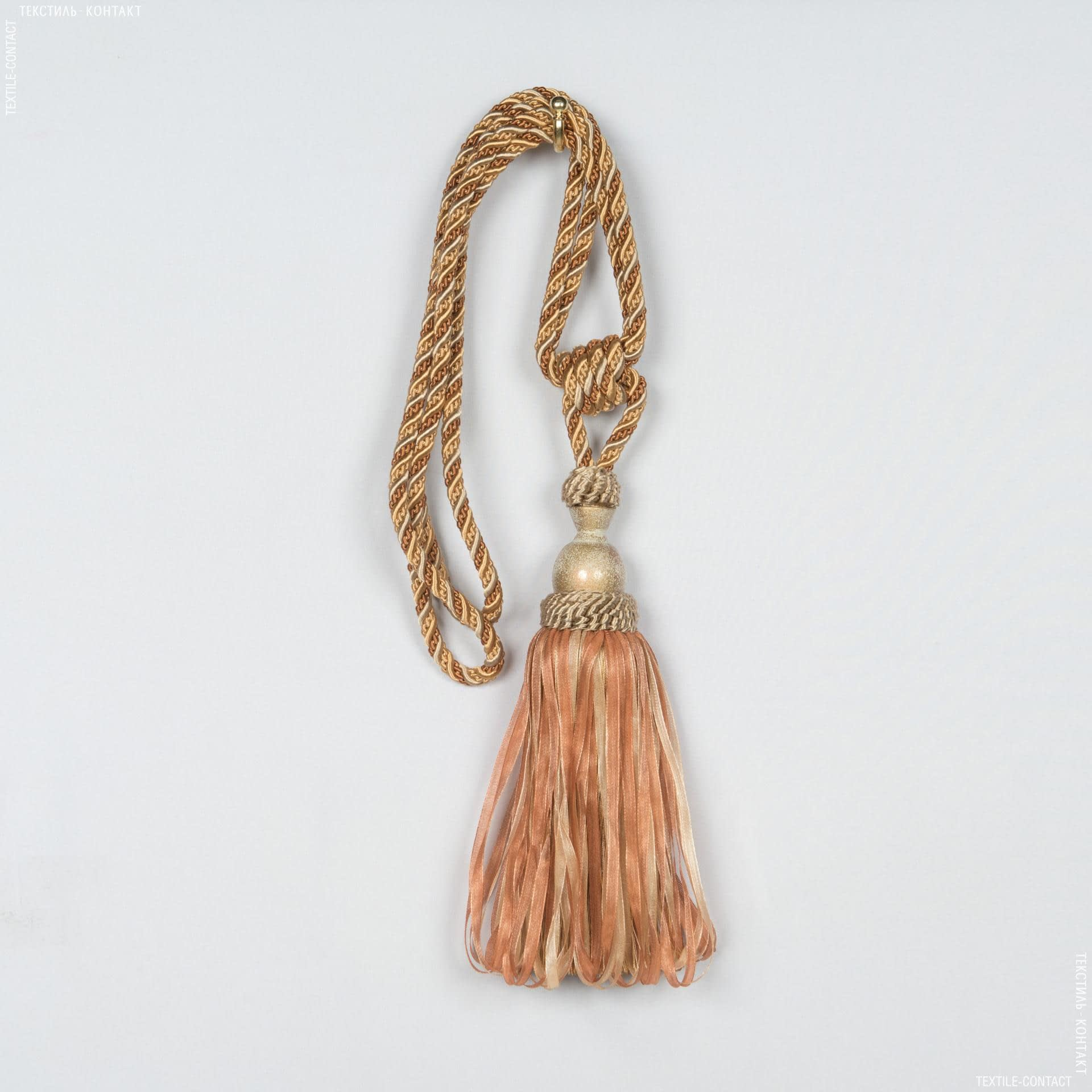 Тканини фурнітура для декора - Кисті імеджен органза карамель