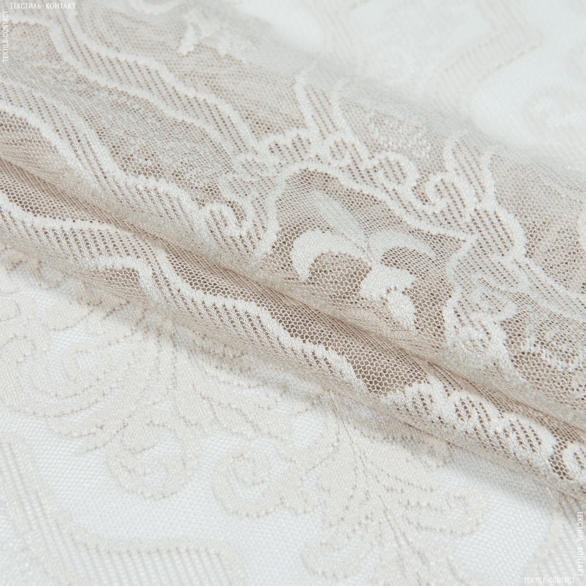 Тканини гардинні тканини - Гардинне полотно гіпюр анаіт беж