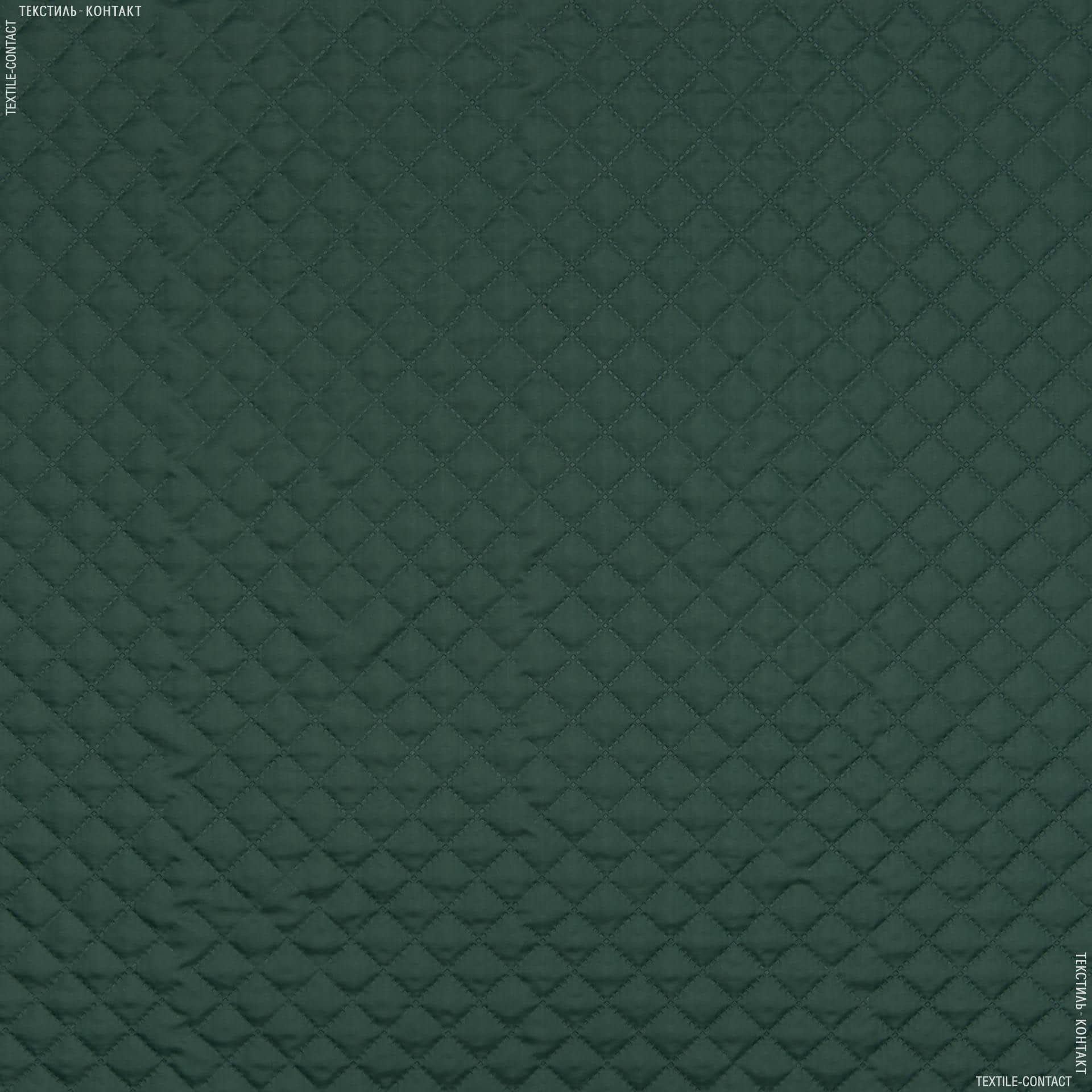 Ткани подкладочная ткань - Подкладка 190Т термопай с синтепоном 100г/м 2см*2см зеленый