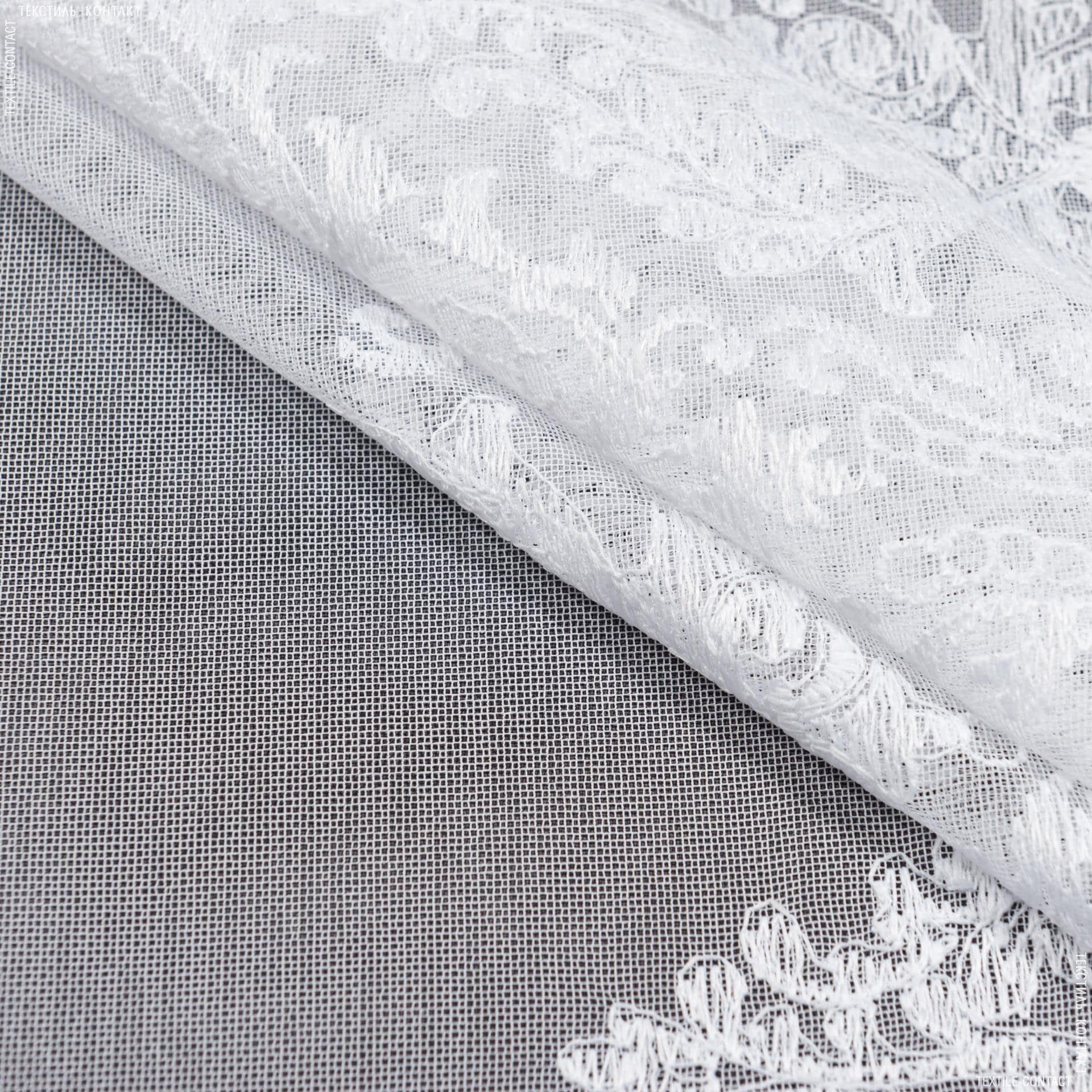 Тканини гардинні тканини - Тюль вишивка віталіна купон, білий