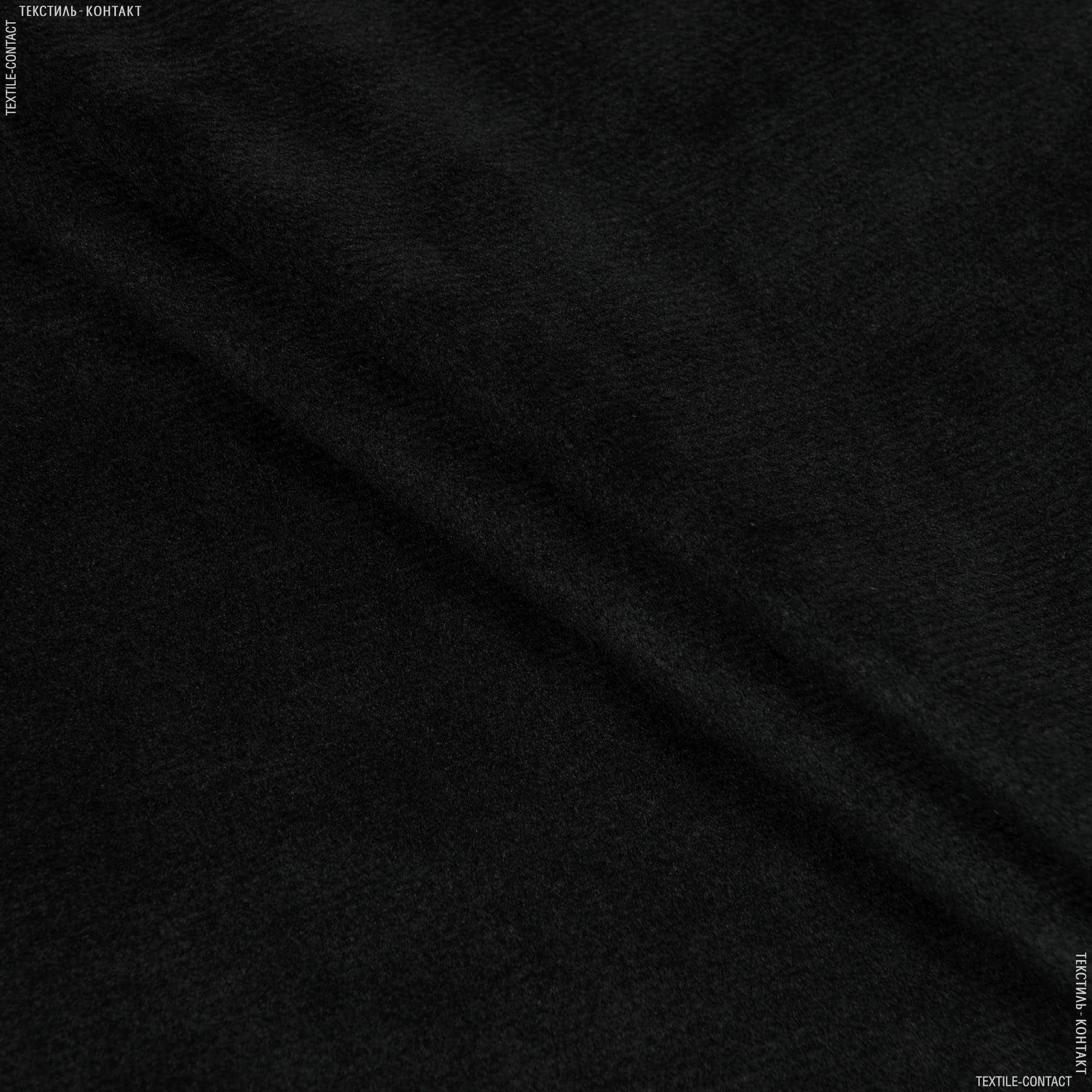 Тканини для верхнього одягу - Плюш (вельбо) лайт чорний