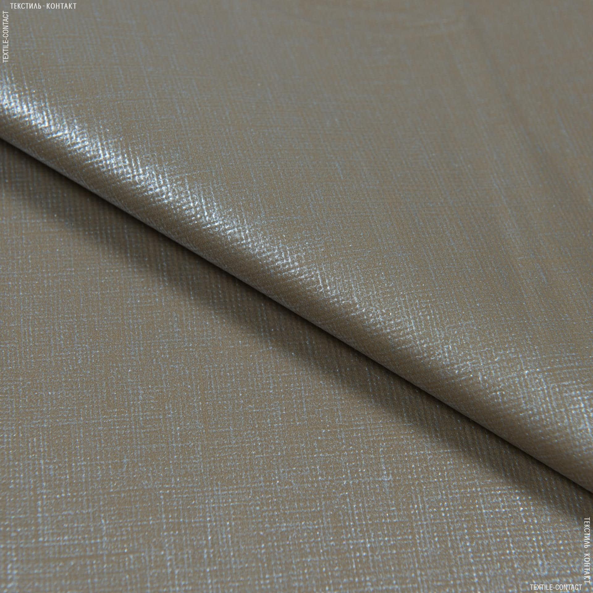 Ткани horeca - Скатертная пленка мантелериа хаки-серебро