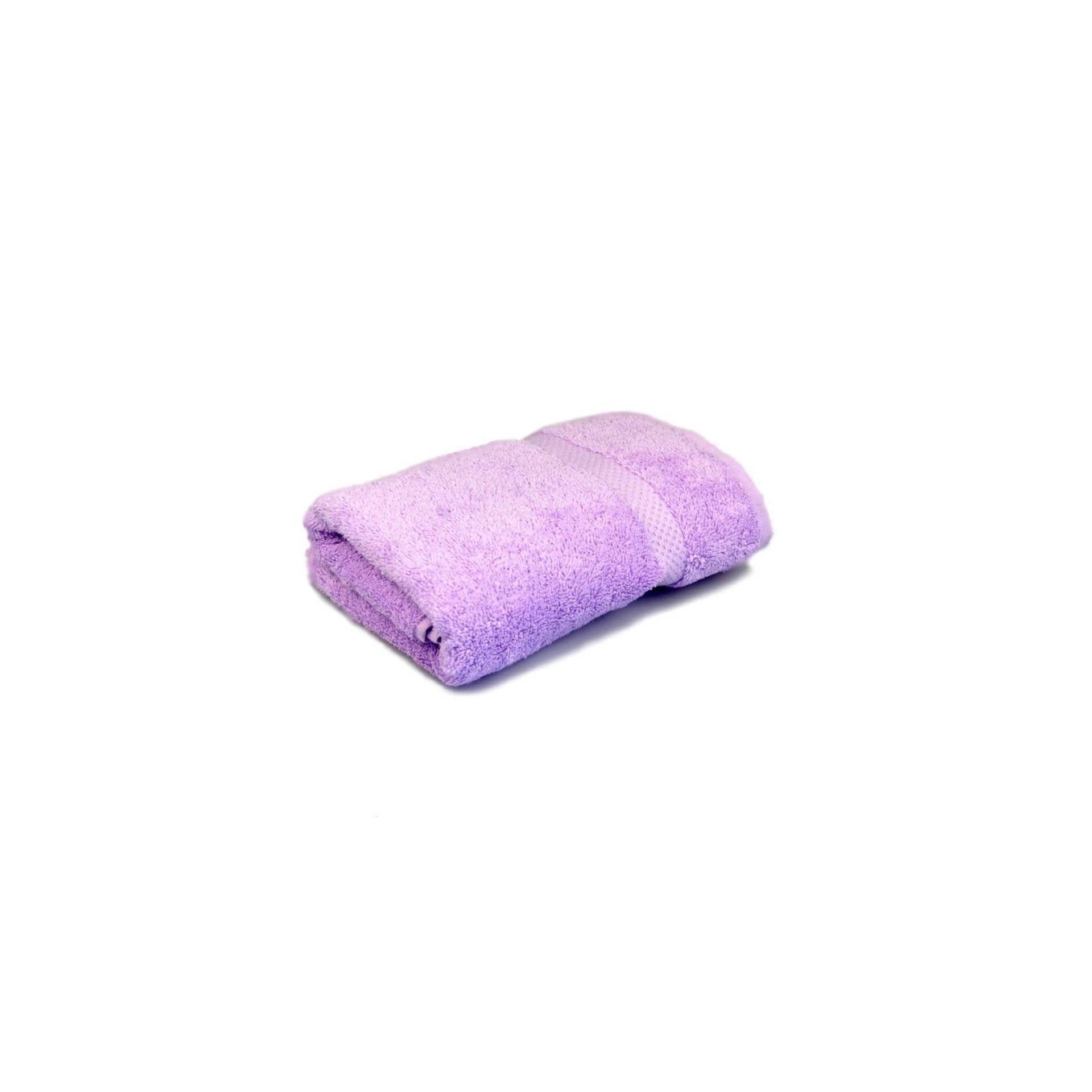 Тканини махрові рушники - Рушник махровий ліловий 40х70 см