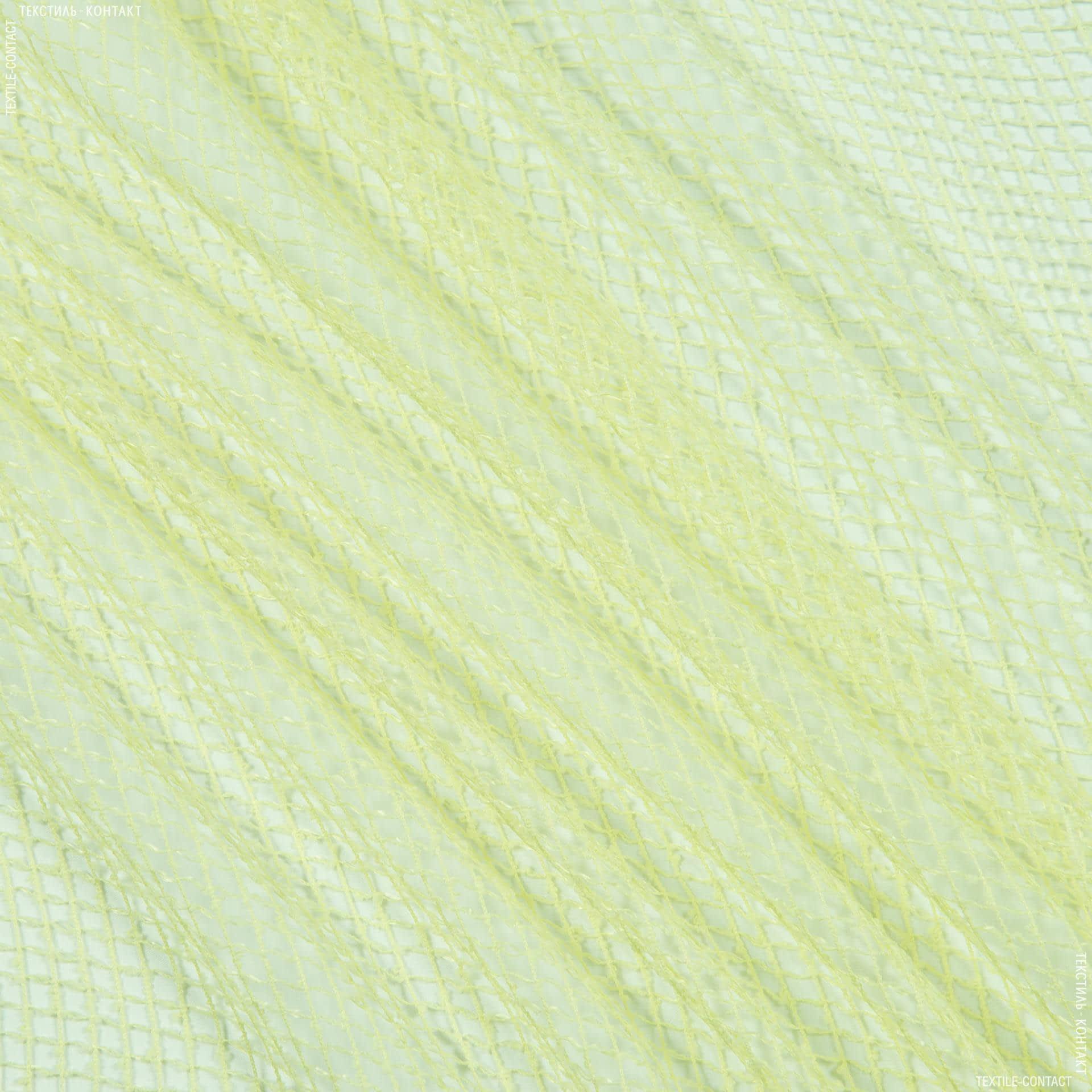 Тканини для драпірування стін і стель - Тюль сітка еліза/ ніжний салат