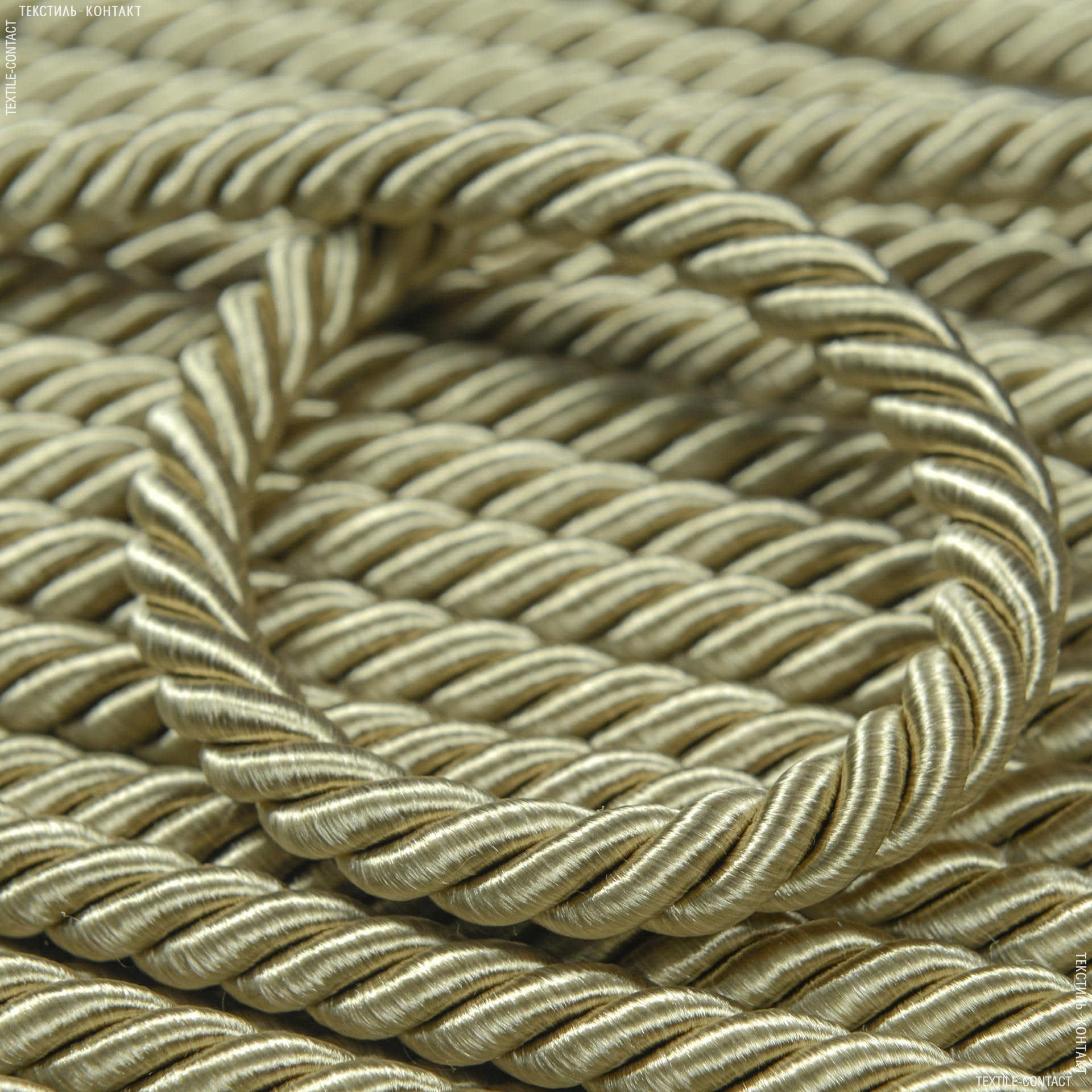 Тканини фурнітура для декора - Шнур Солар, оливка  d=10мм