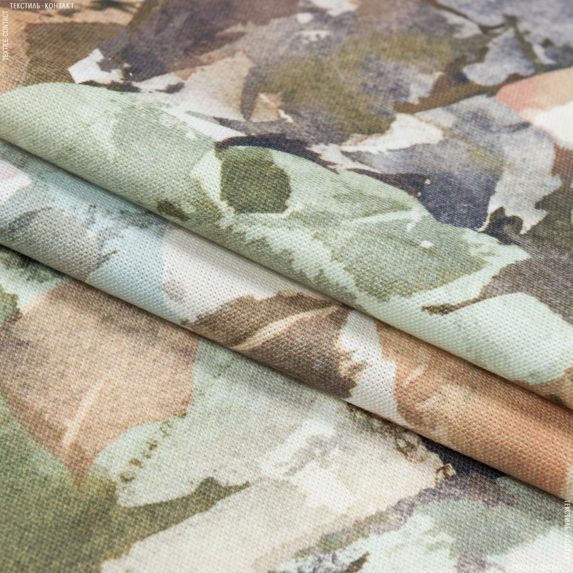 Ткани портьерные ткани - Декоративная ткань росас картина/rosas    беж,зеленый