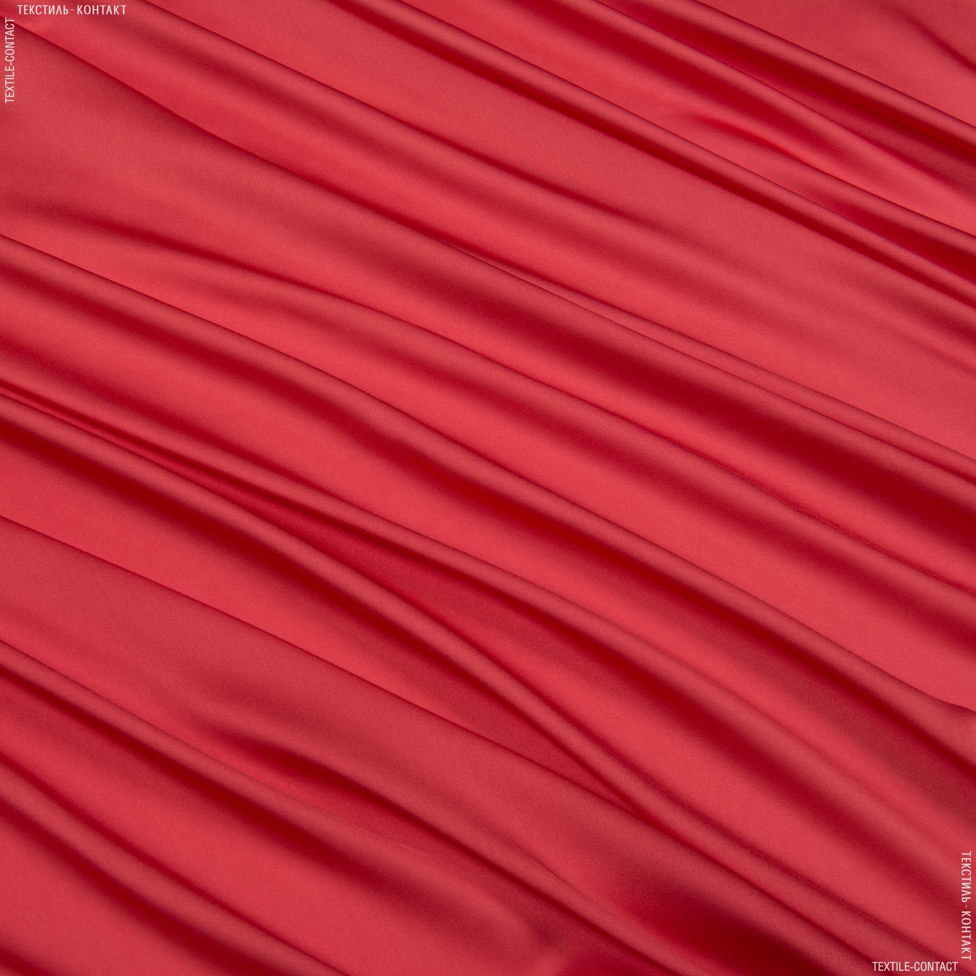 Тканини для хусток та бандан - Шовк штучний яскраво-червоний