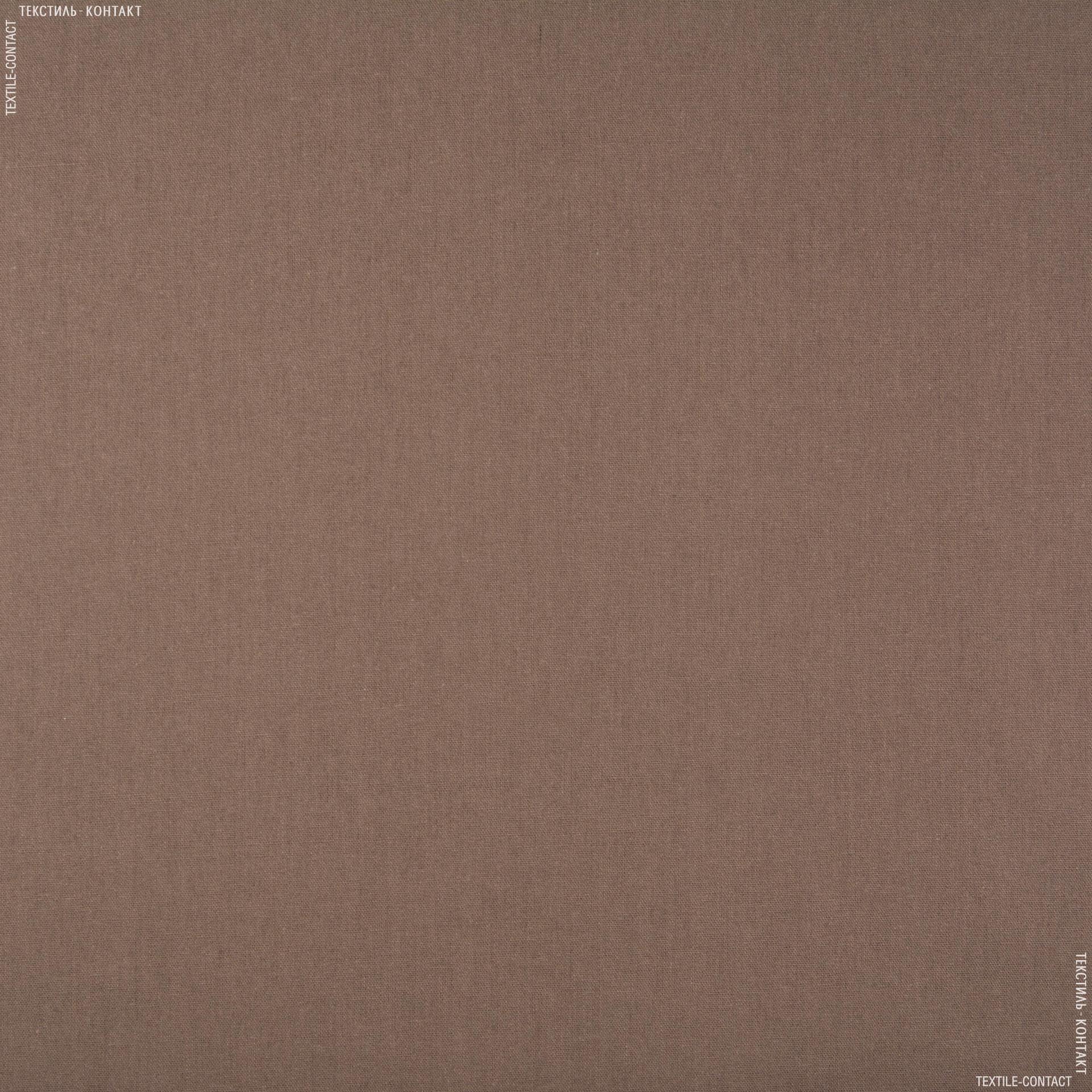 Тканини для костюмів - Лен гранд коричневий