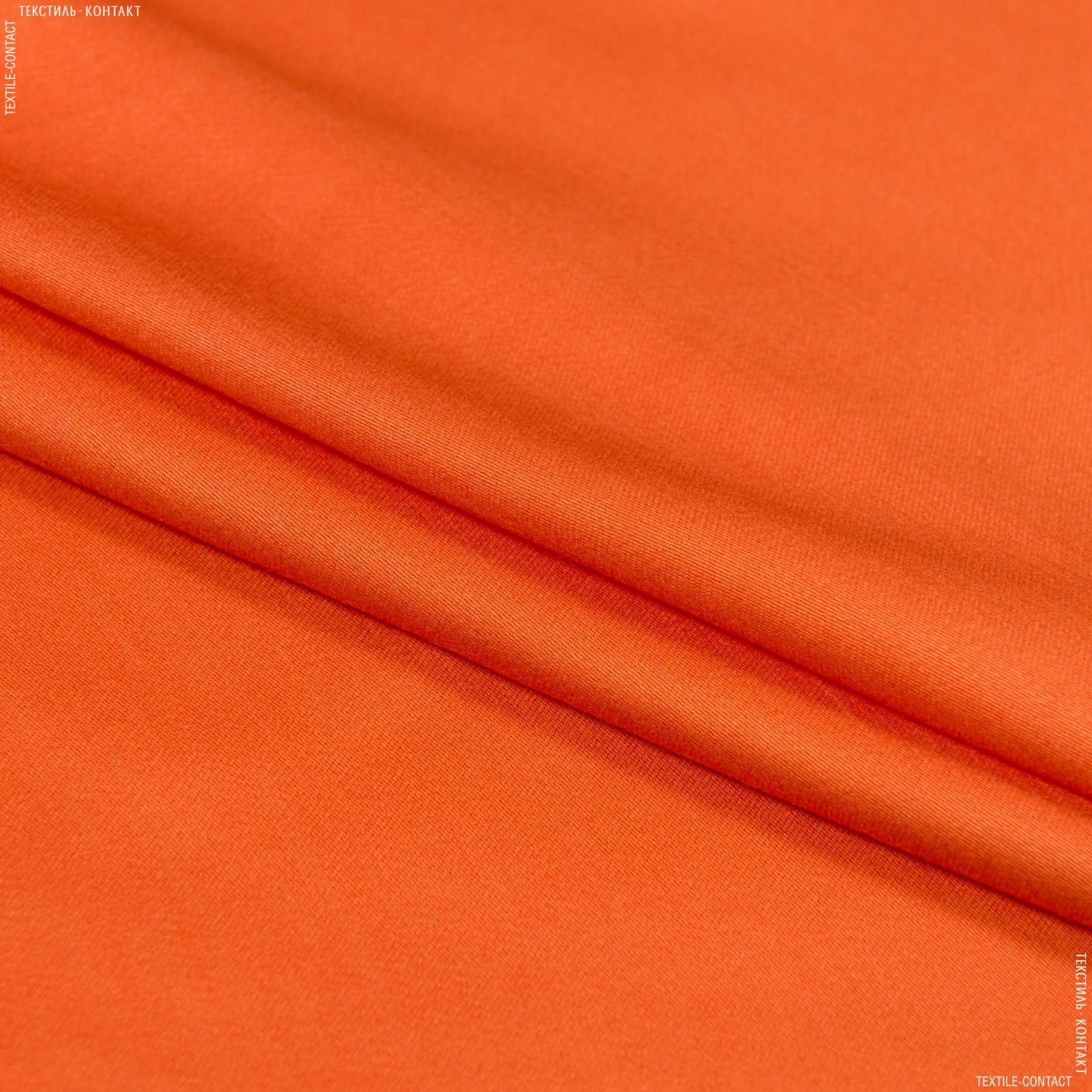 Ткани для платьев - Плательный сатин морковный
