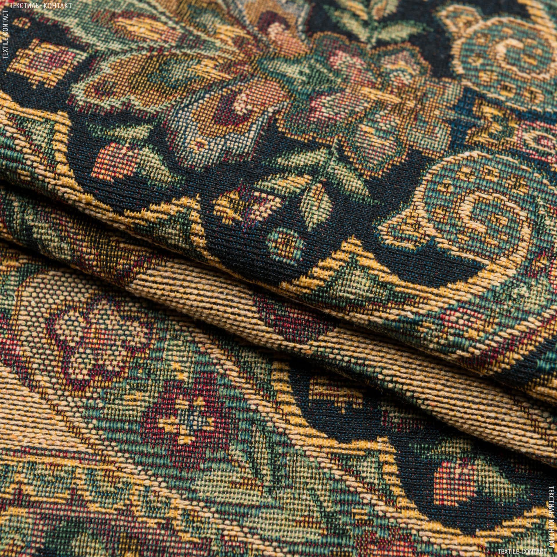 Ткани для декоративных подушек - Гобелен  византия  беж зеленый