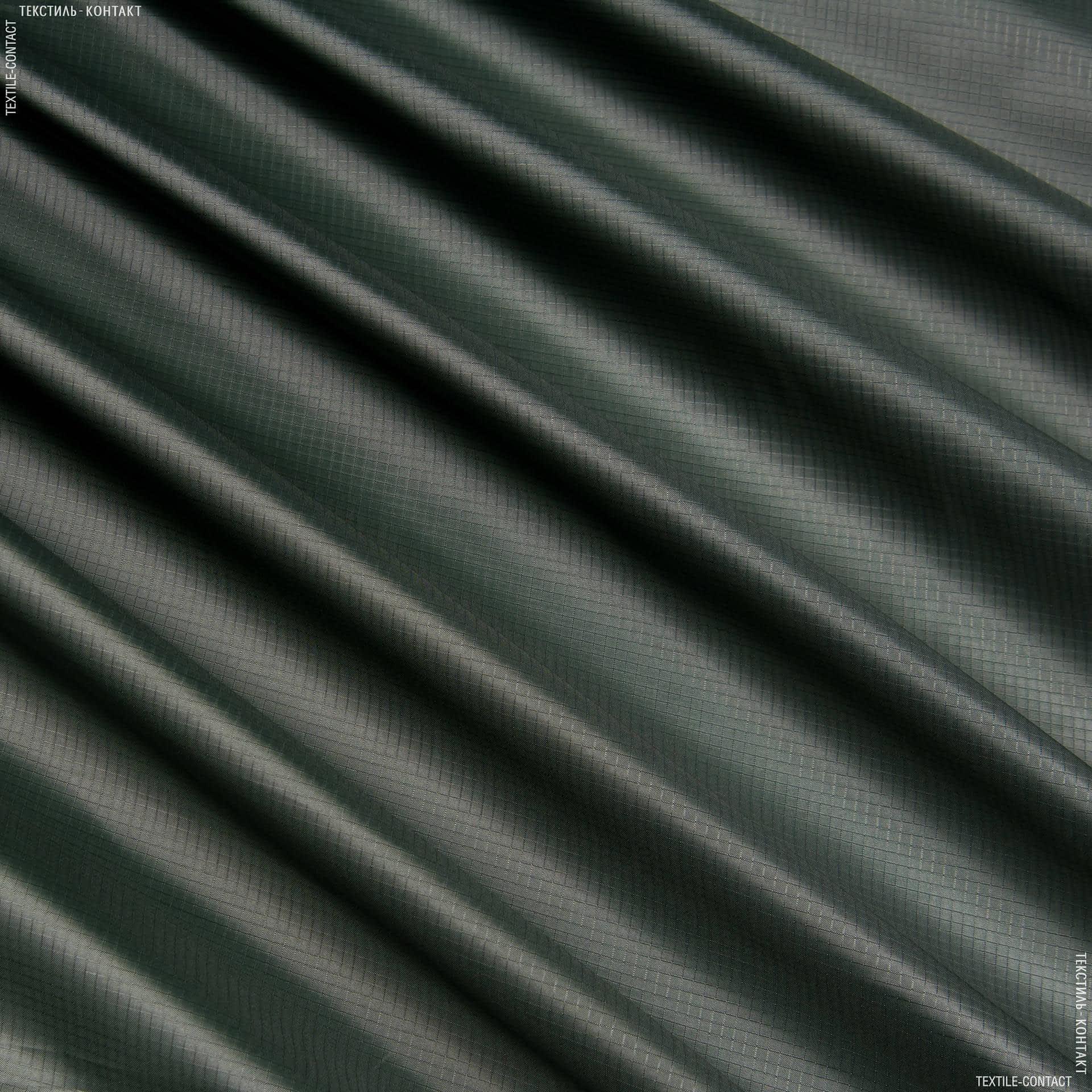 Ткани для спортивной одежды - Рип-стоп курточный темно-зеленый