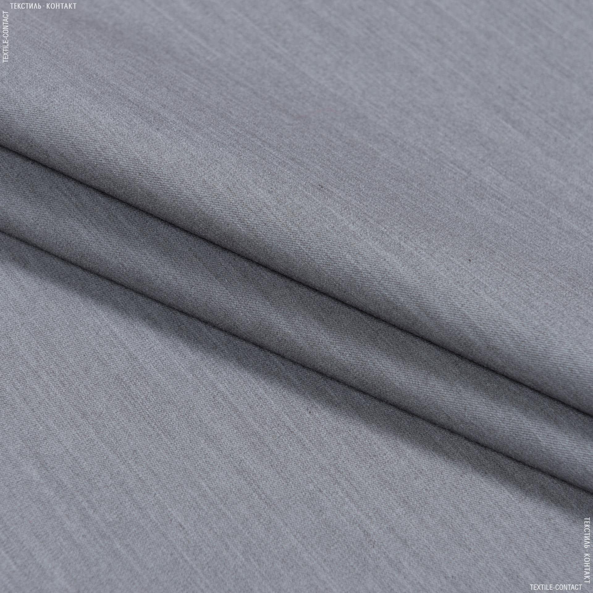 Ткани для брюк - Костюмная тесла-1 меланж серый