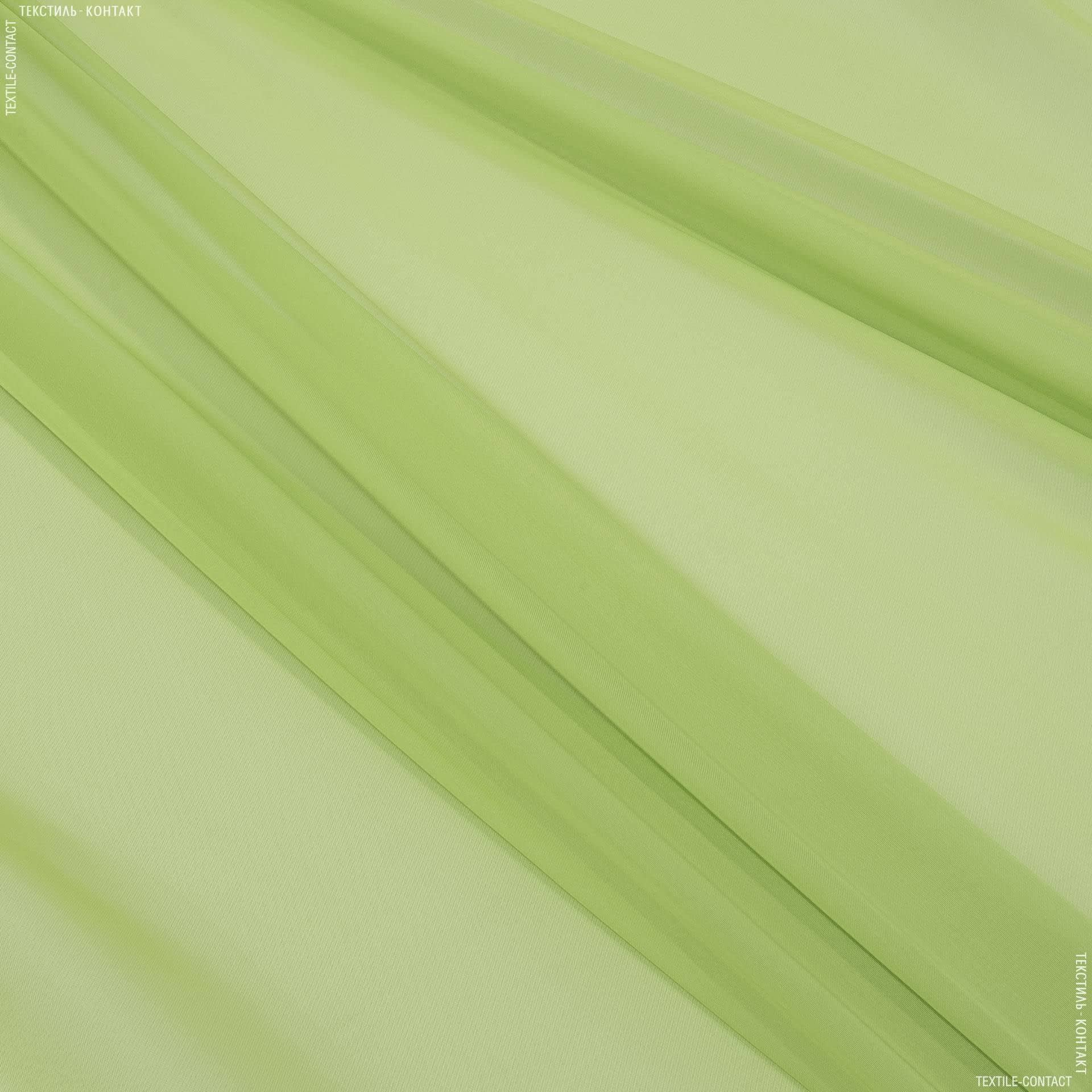Тканини гардинні тканини - Тюль вуаль зелене яблуко