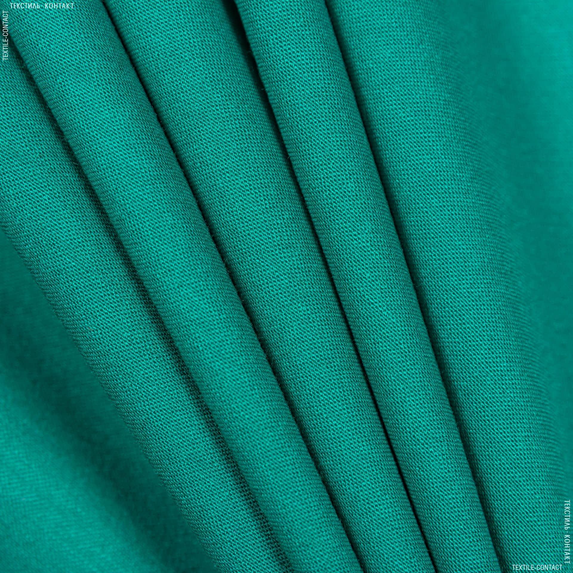 Тканини для костюмів - Костюмний сатин віскозний смарагдовий