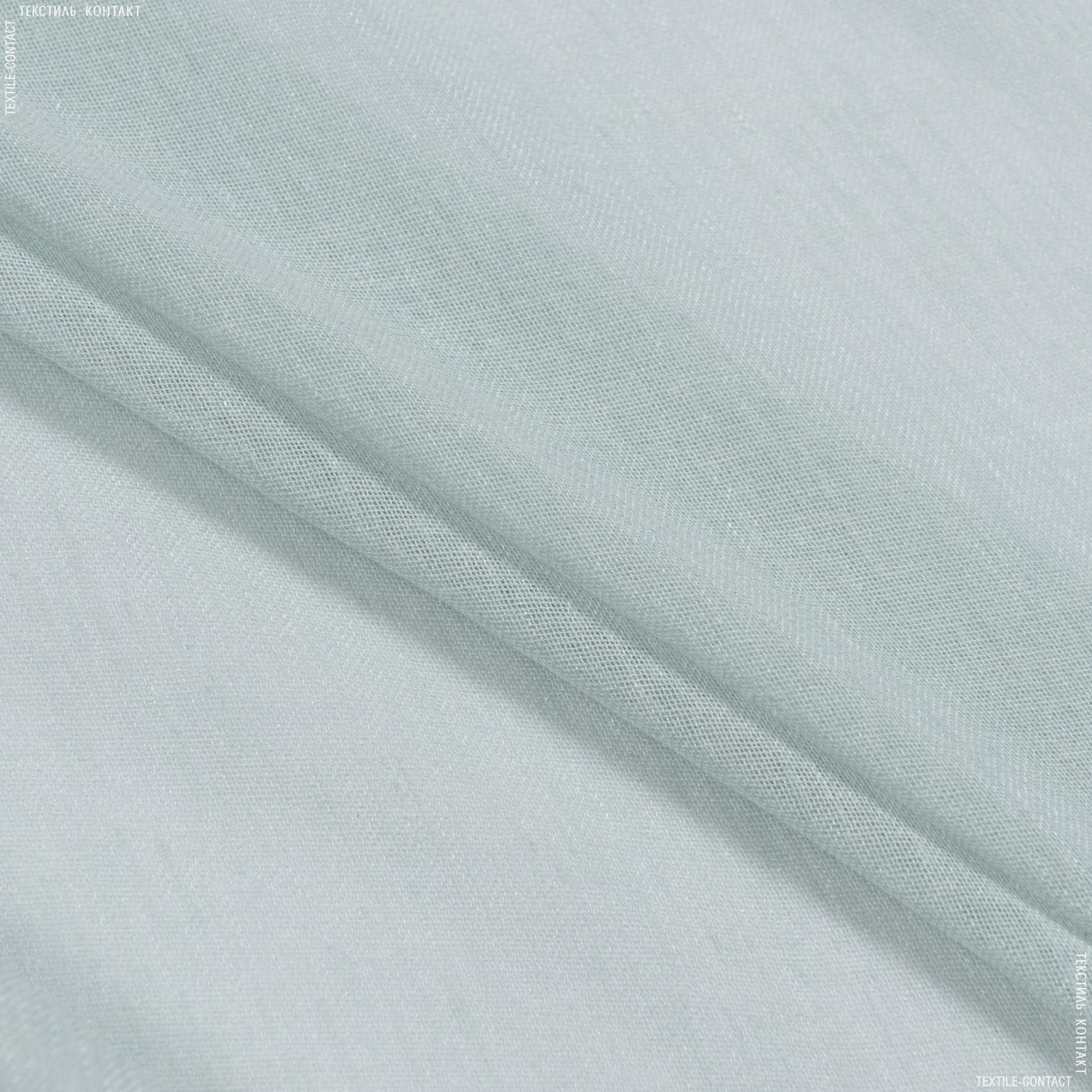 Ткани гардинные ткани - Тюль  кисея с  утяжелителем мелодия/ /св.лазурь
