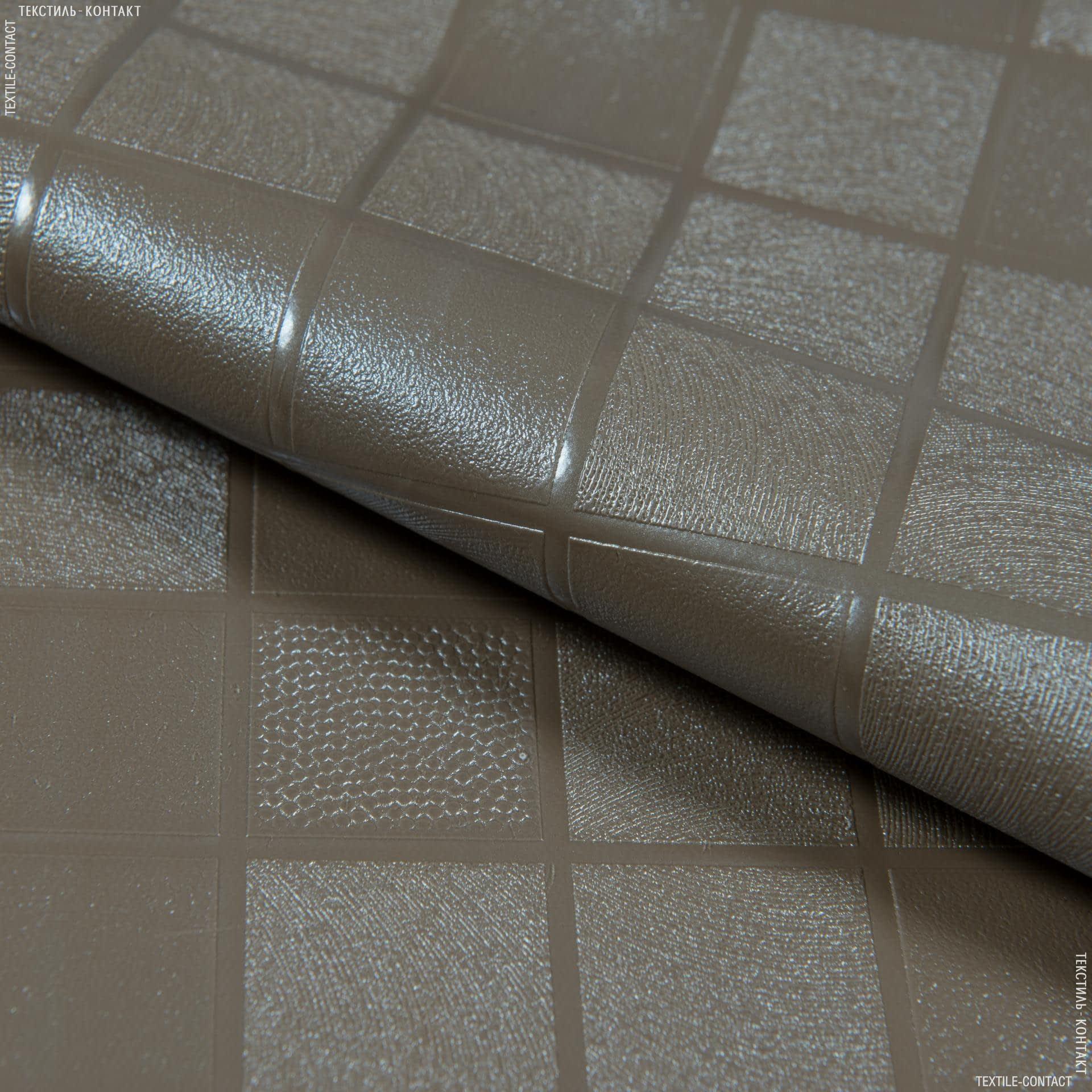 Тканини horeca - Скатертна плівка петра клітка кава