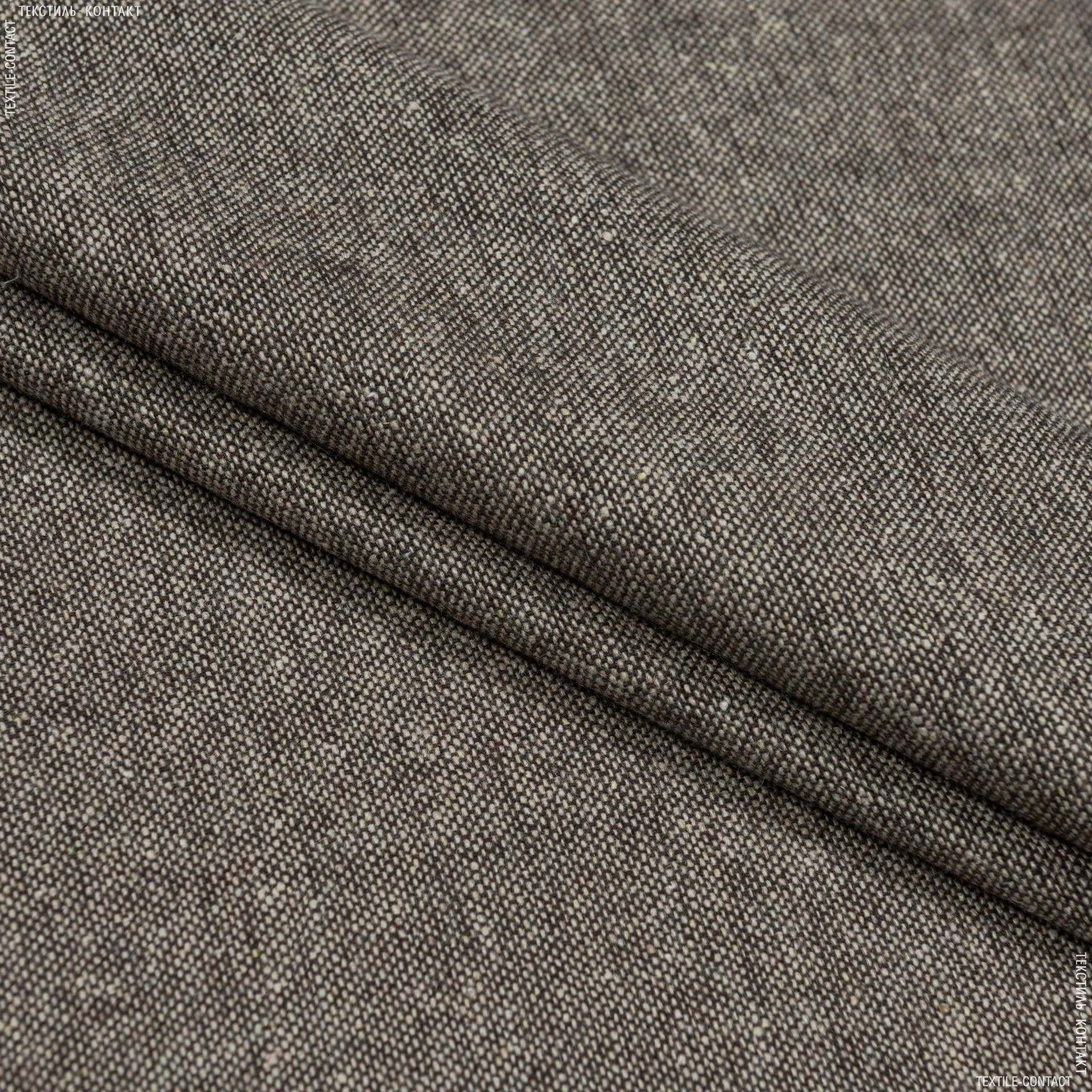 Тканини для штанів - Костюмний твід коричневий
