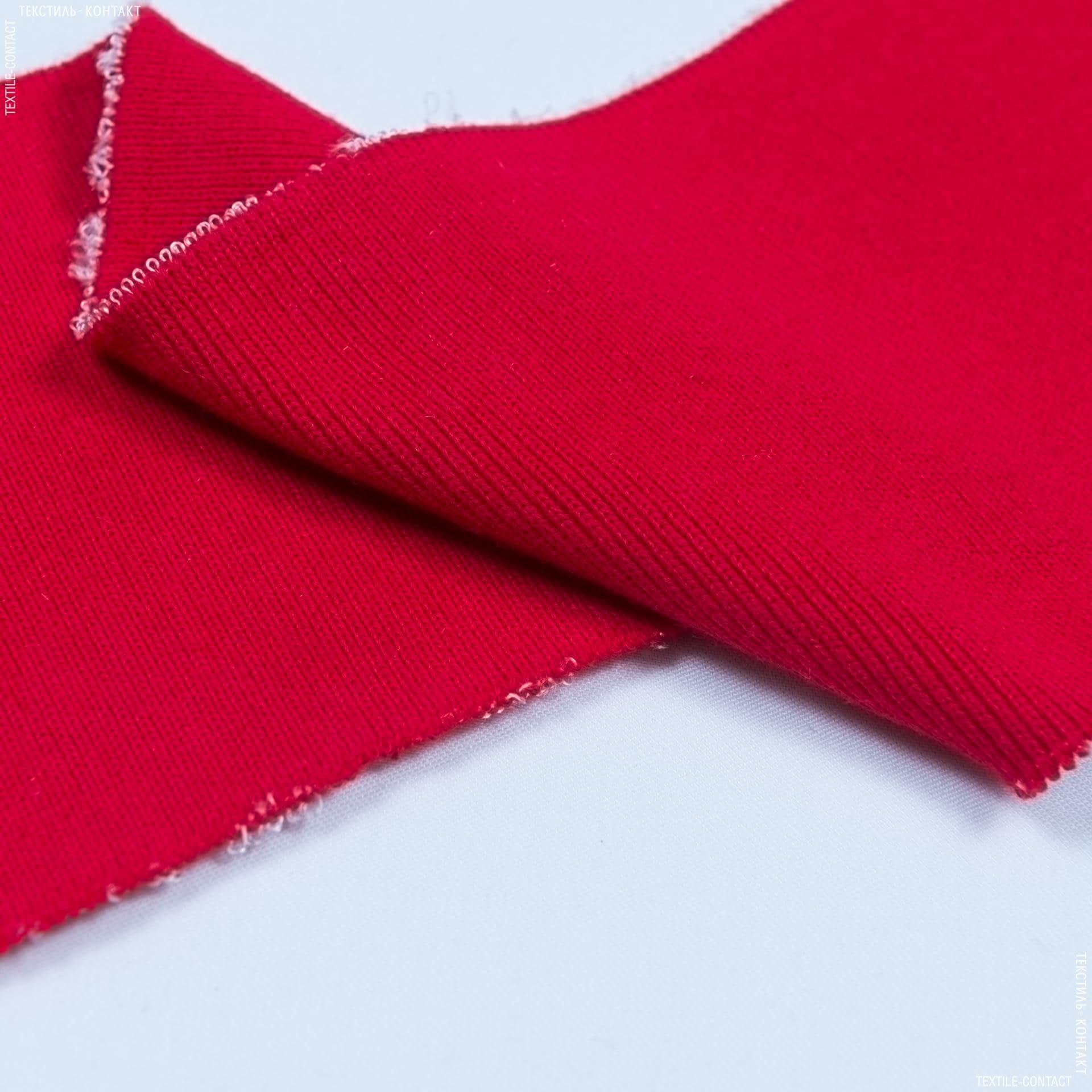 Тканини трикотаж - Комір-манжет червоний 10х42см