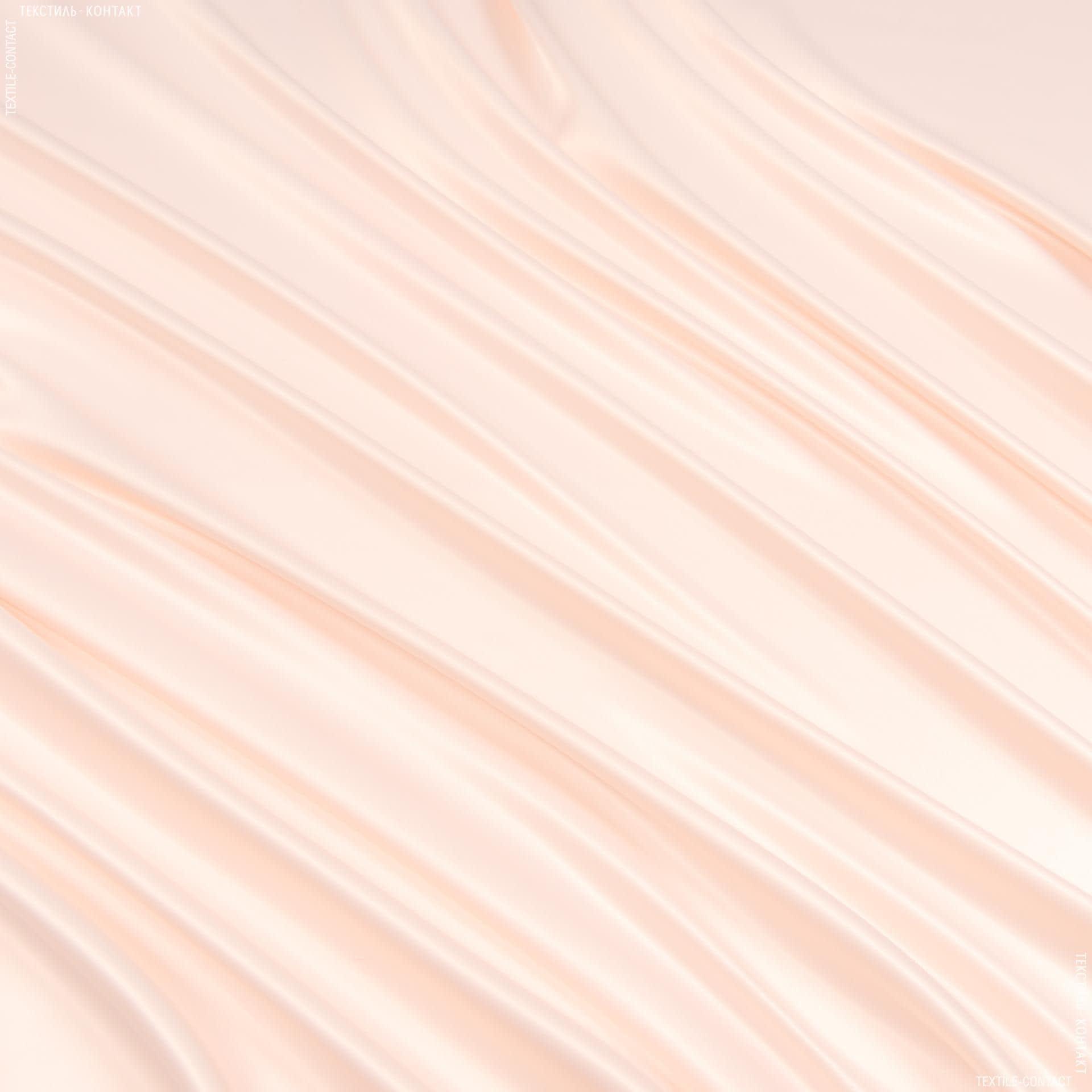 Тканини для костюмів - Атлас щільний стрейч світло-кремовий