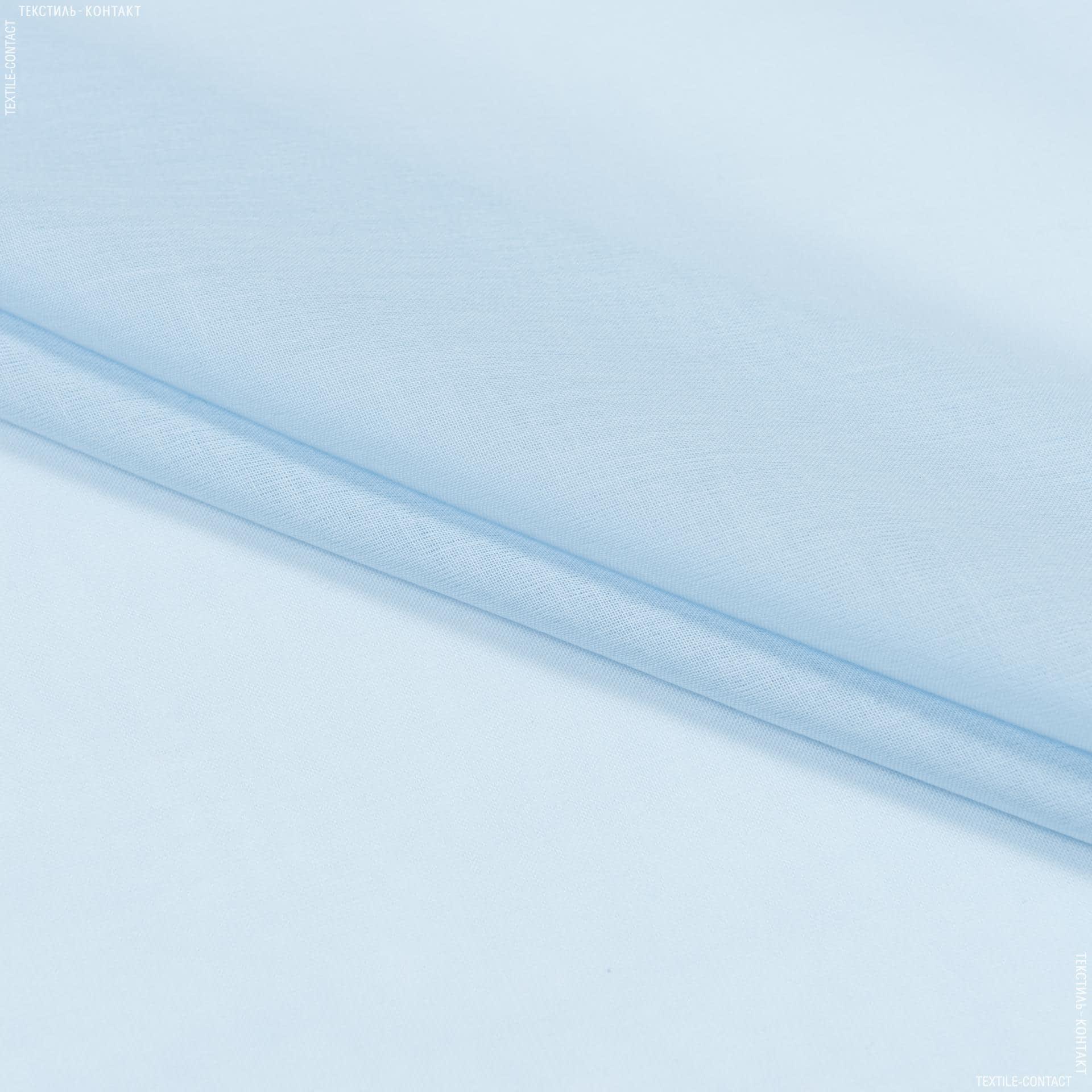 Ткани для драпировки стен и потолков - Тюль  батист  люсент/lucent голубой