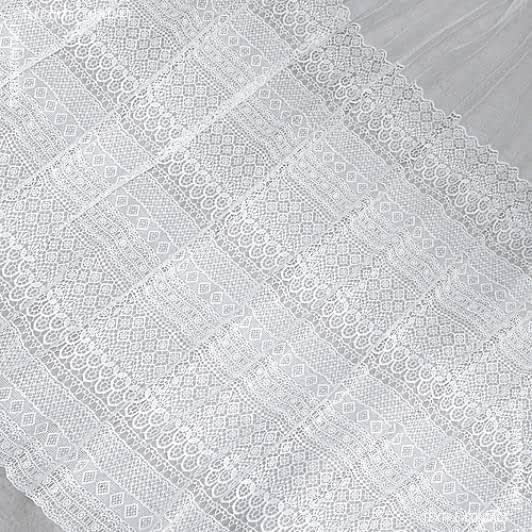 Ткани гардинное полотно (гипюр) - Гард пол. Гипюр-кружево Мишель молочный