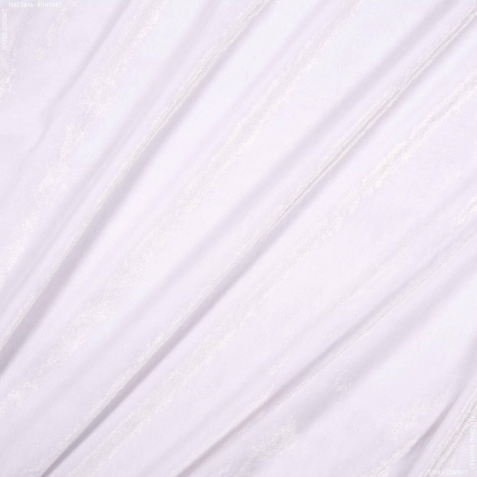 Ткани для платьев - Велюр стрейч  белый