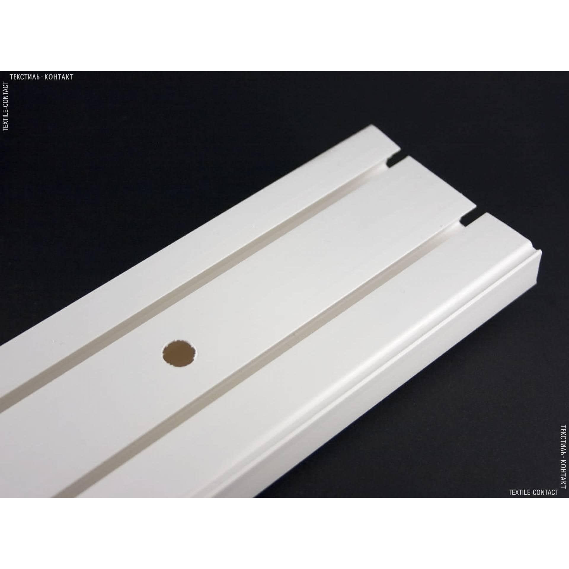 Тканини карнизи - Шина пластикова 2-смугова №1234 120см