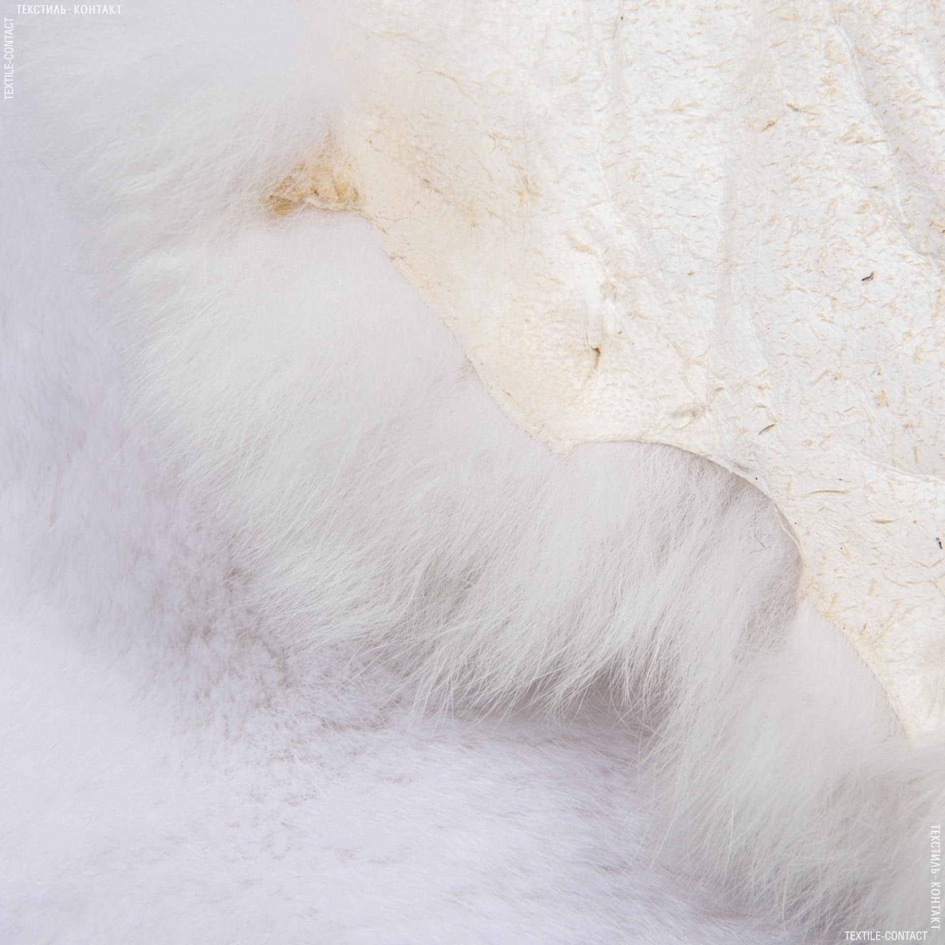 Ткани для верхней одежды - Мех натуральный кролик тату белый
